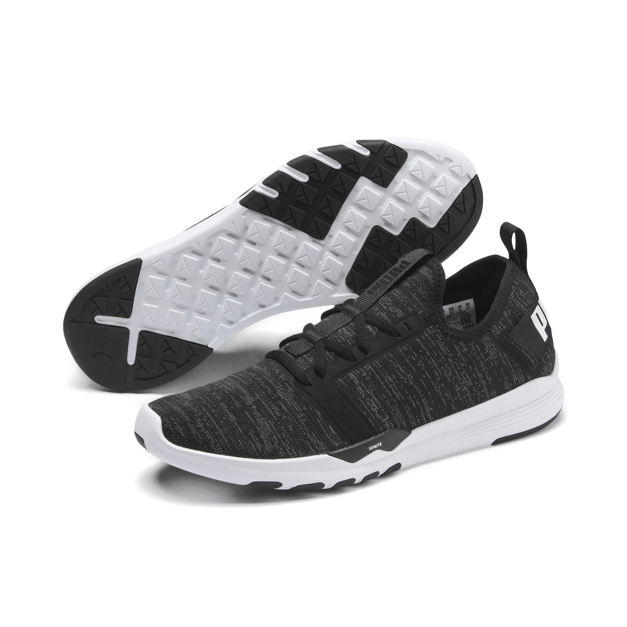 Thumbnail 4 of IGNITE Contender Knit Men's Running Shoes, Puma Black-Puma White, medium-IND
