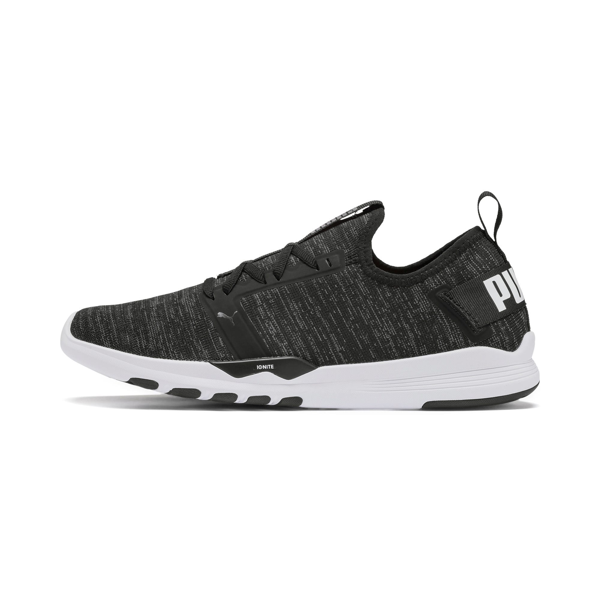 Thumbnail 1 of IGNITE Contender Knit Men's Running Shoes, Puma Black-Puma White, medium-IND