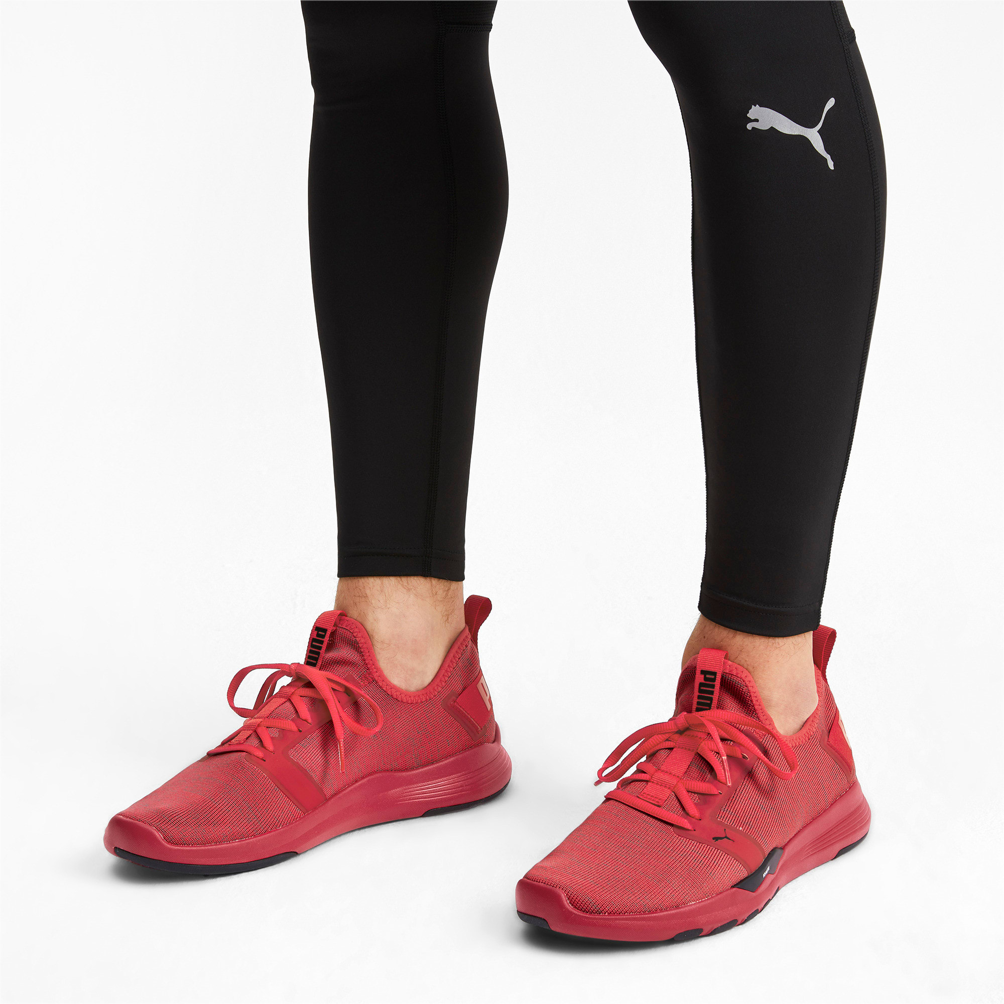 Thumbnail 3 of IGNITE Contender Knit Men's Running Shoes, Ribbon Red-Puma Black, medium-IND