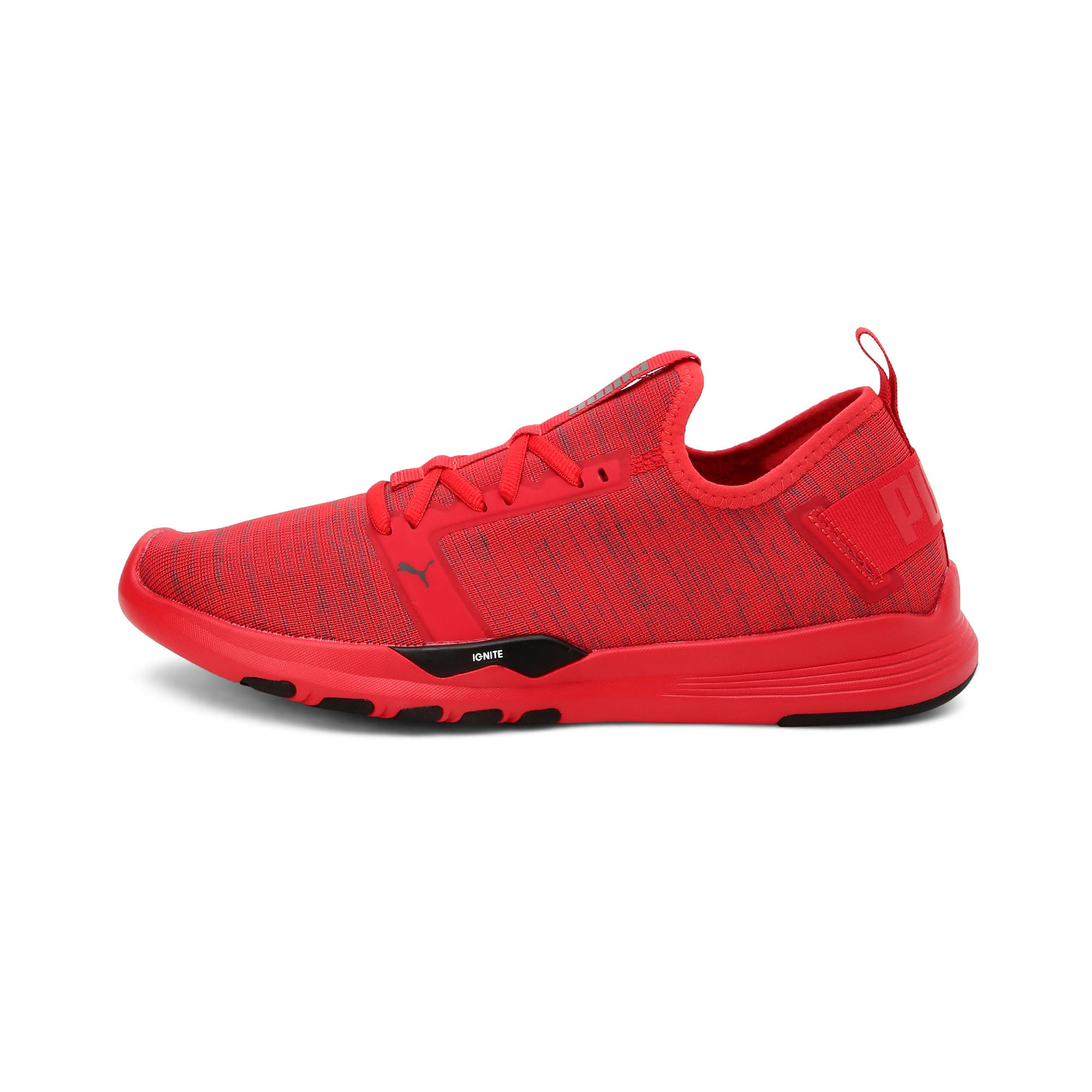 Thumbnail 1 of IGNITE Contender Knit Men's Running Shoes, Ribbon Red-Puma Black, medium-IND