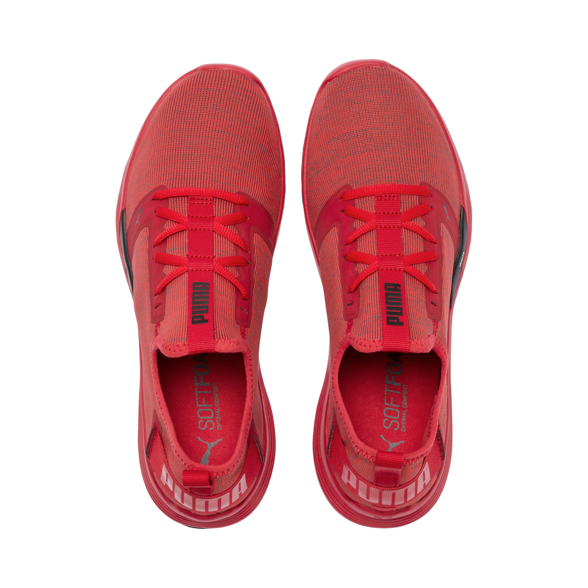 Thumbnail 8 of IGNITE Contender Knit Men's Running Shoes, Ribbon Red-Puma Black, medium-IND