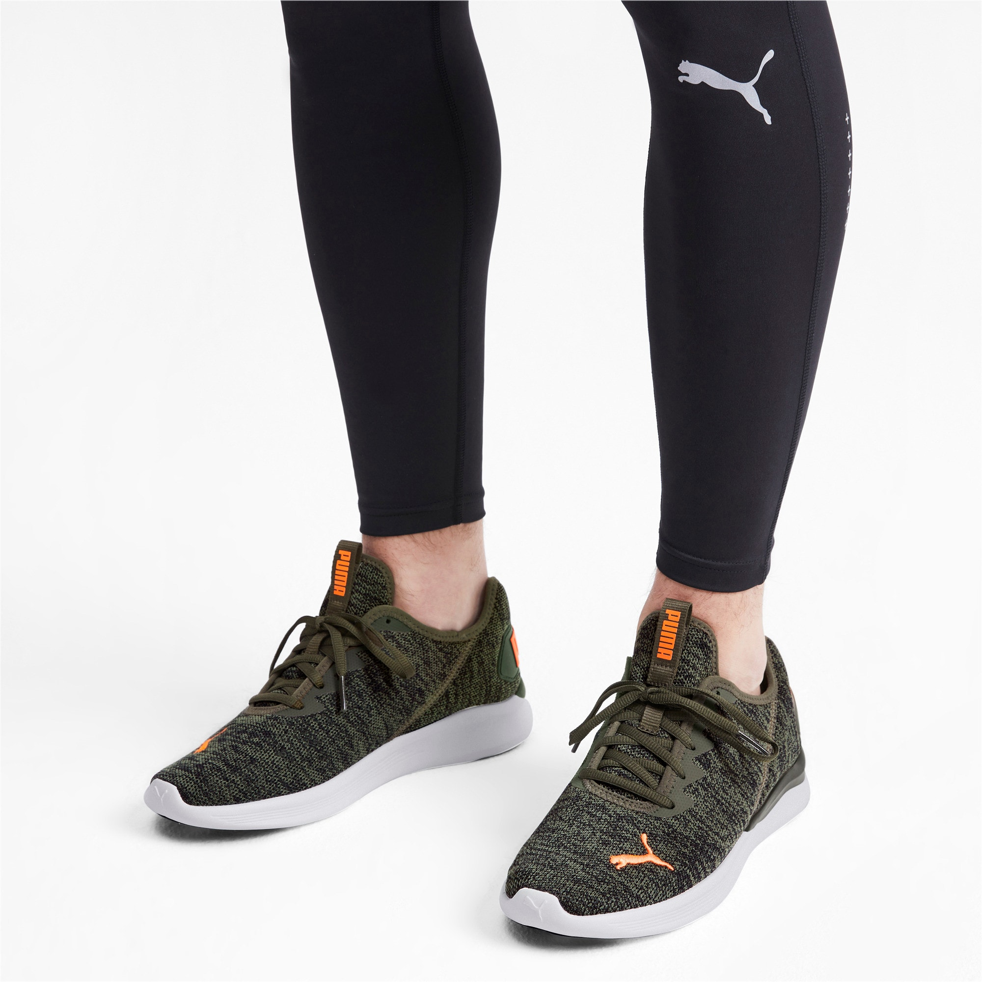 Thumbnail 4 of Ballast Men's Running Shoes, Forest Night-Black-Orange, medium-IND