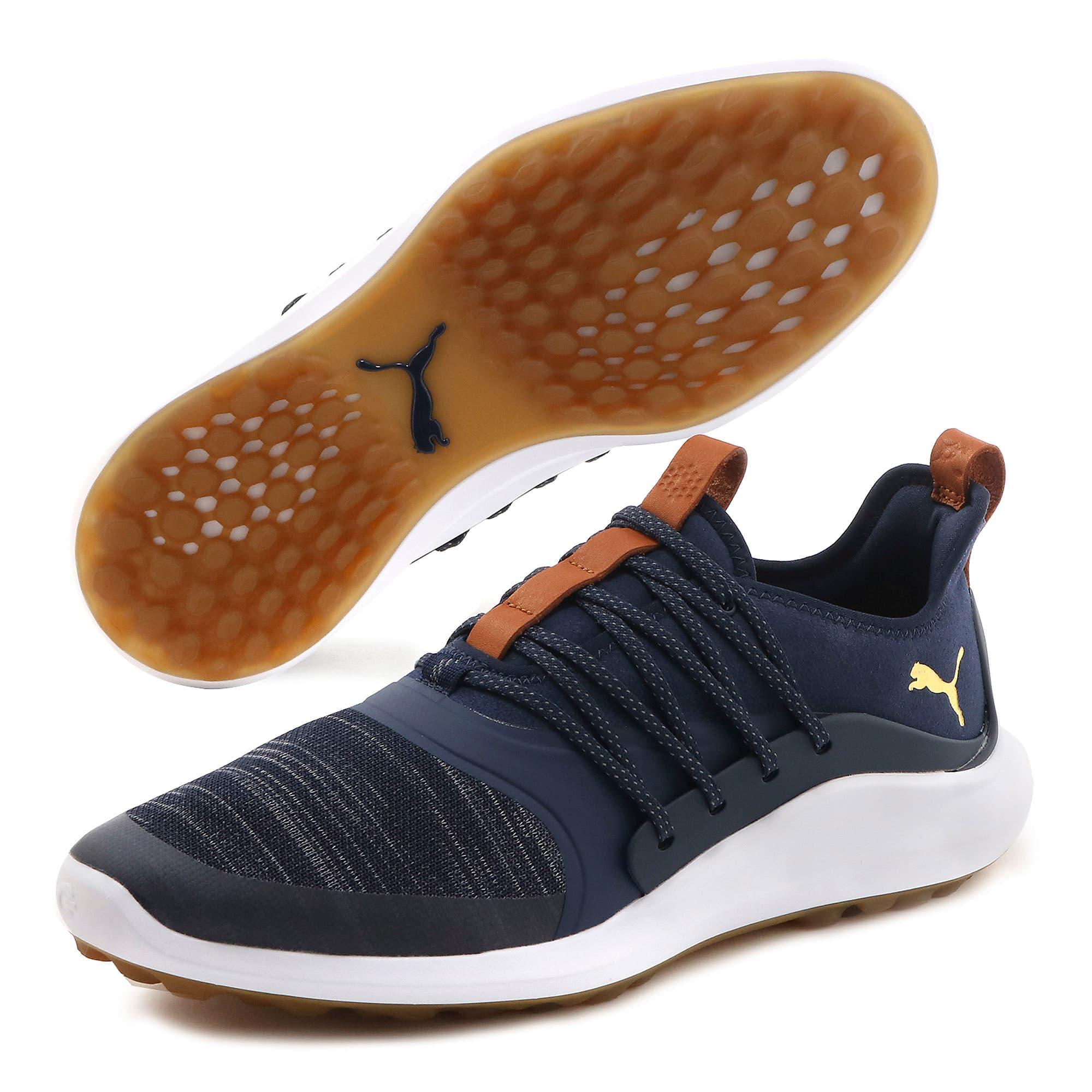 Thumbnail 2 of IGNITE NXT SOLELACE Men's Golf Shoes, Peacoat-Gold, medium