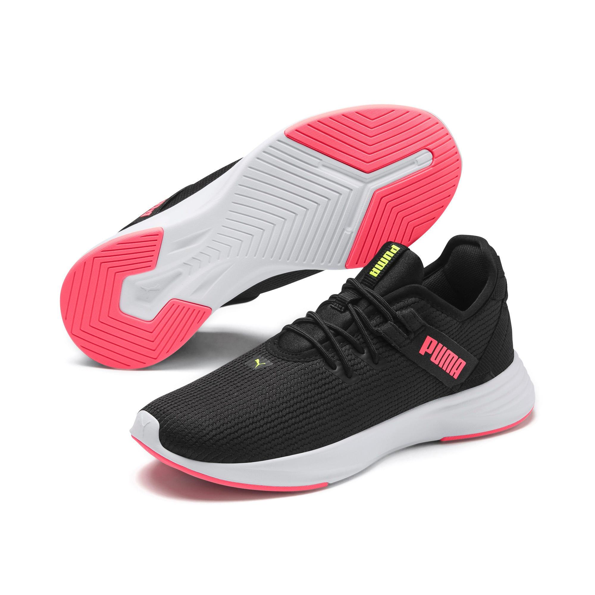 Thumbnail 4 of Radiate XT Women's Training Sneakers, Puma Black-Pink Alert, medium-IND
