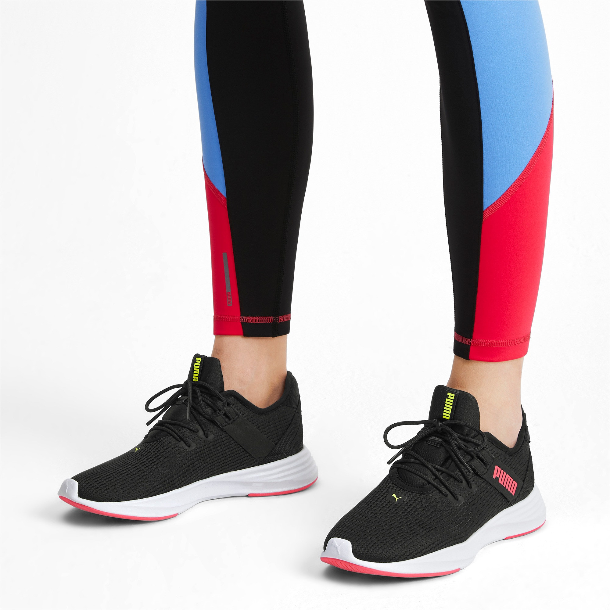 Thumbnail 2 of Radiate XT Women's Training Sneakers, Puma Black-Pink Alert, medium-IND