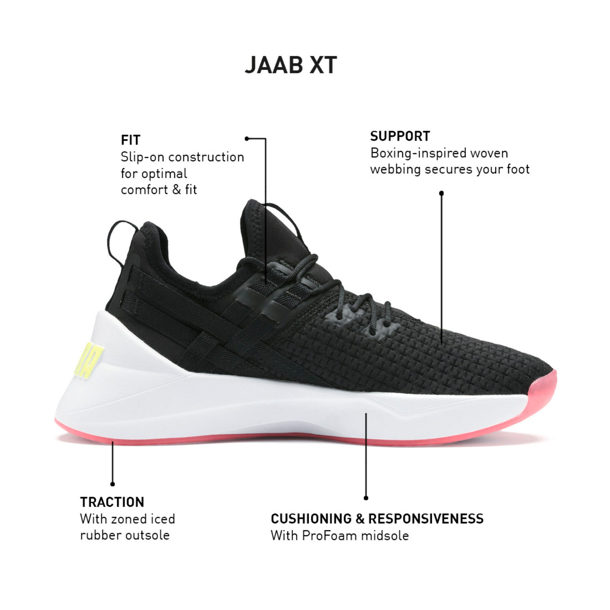 Thumbnail 9 of Jaab XT Women's Training Trainers, Puma Black-Puma White, medium-IND