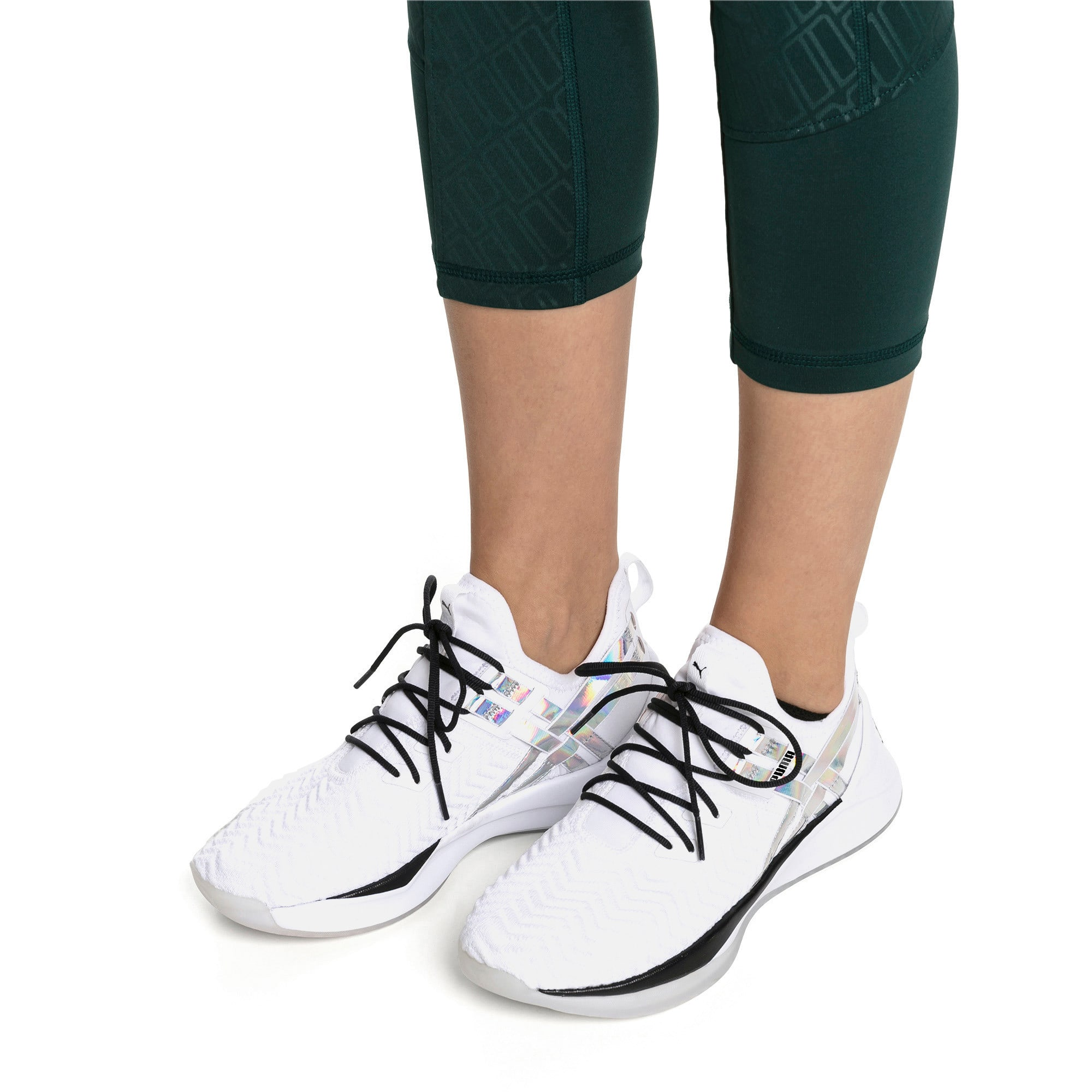 Thumbnail 2 of Jaab XT Iridescent Trailblazer Women's Training Shoes, Puma White-Puma Black, medium