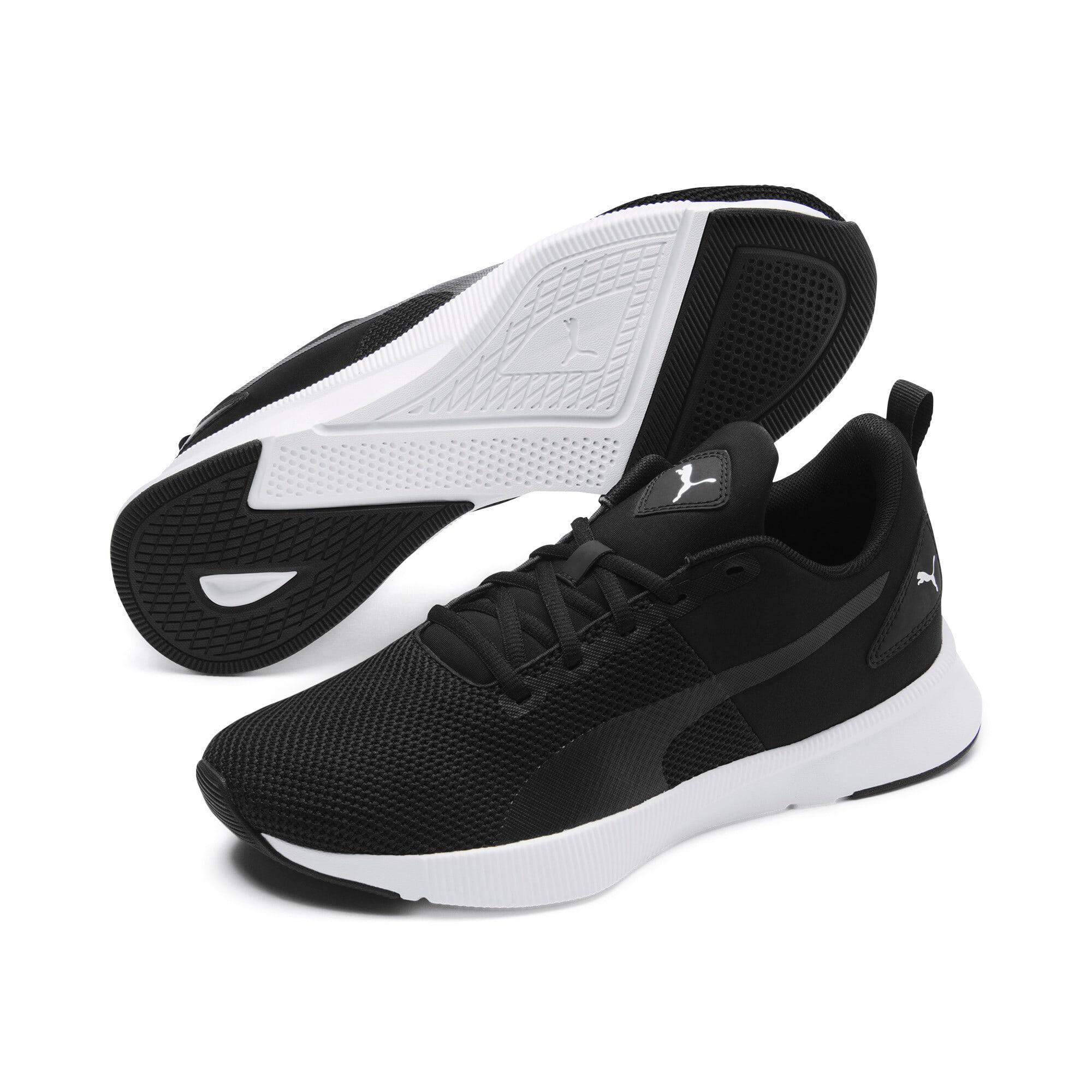 Thumbnail 2 of Flyer Running Shoes, Black-Black-White, medium-IND