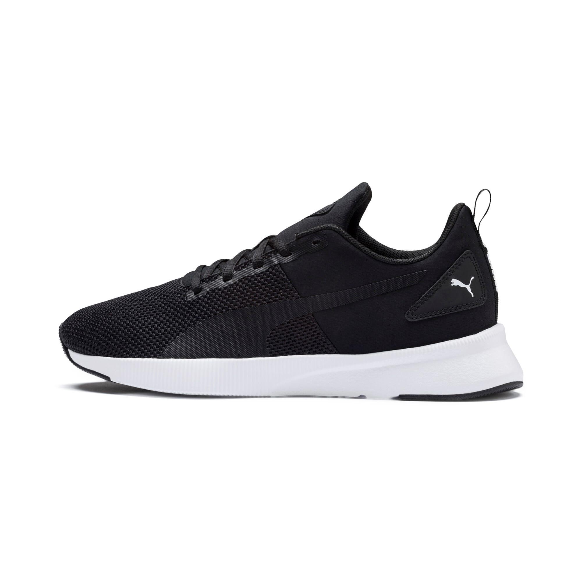 Thumbnail 1 of Flyer Running Shoes, Black-Black-White, medium-IND
