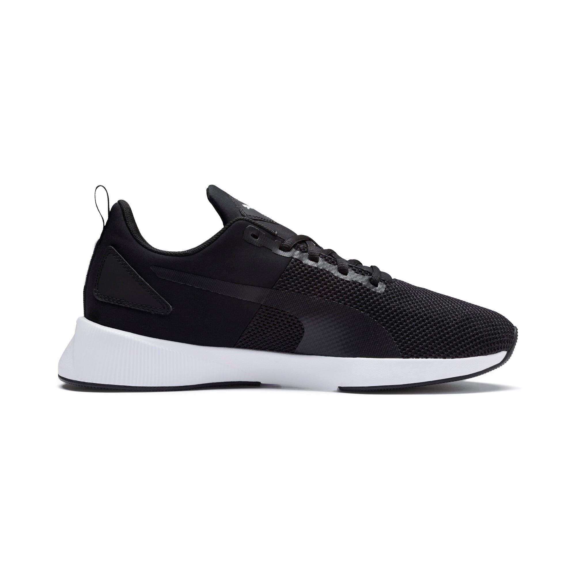 Thumbnail 5 of Flyer Running Shoes, Black-Black-White, medium-IND