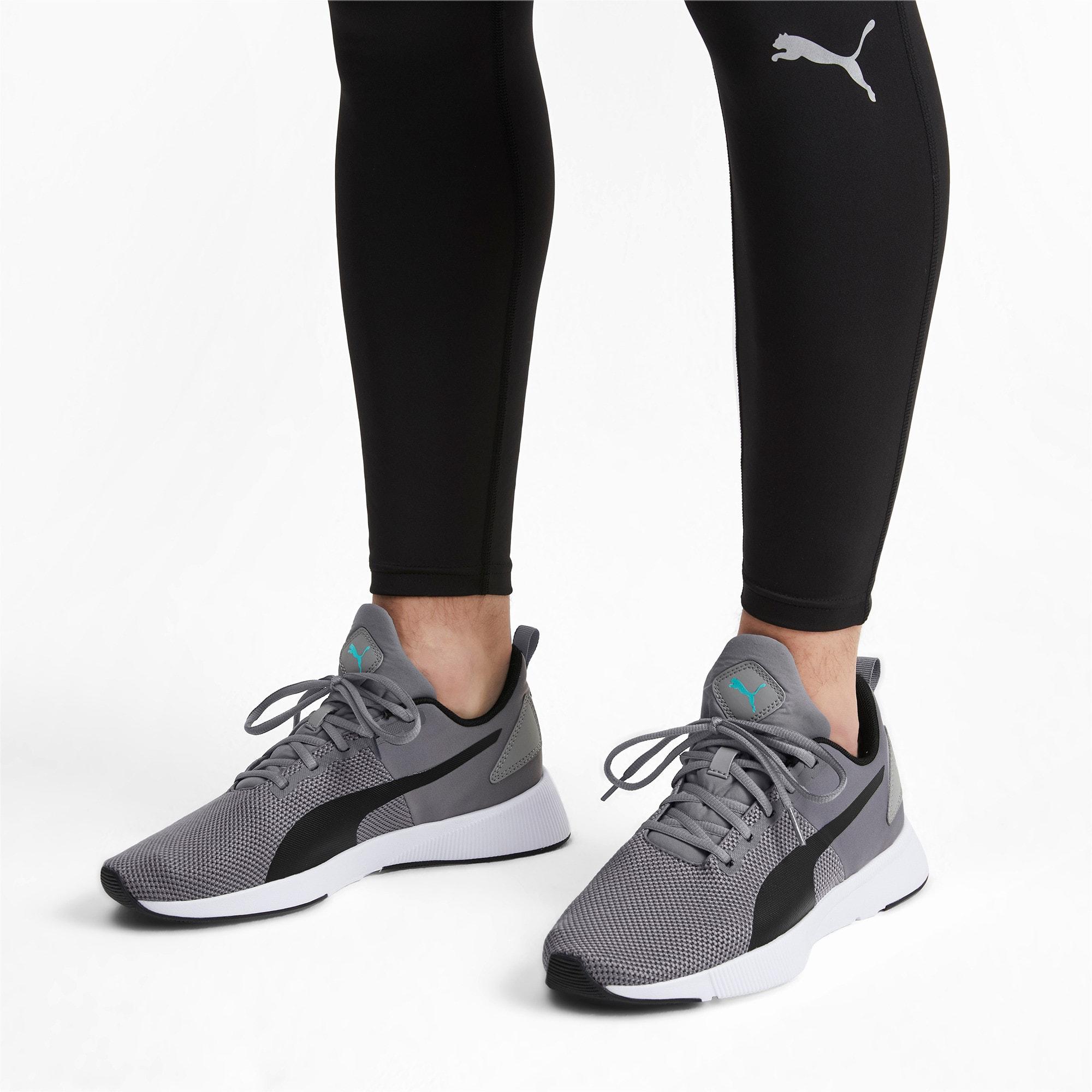 Thumbnail 3 of Flyer Runner Running Shoes, Charcoal-Black-Turquoise, medium