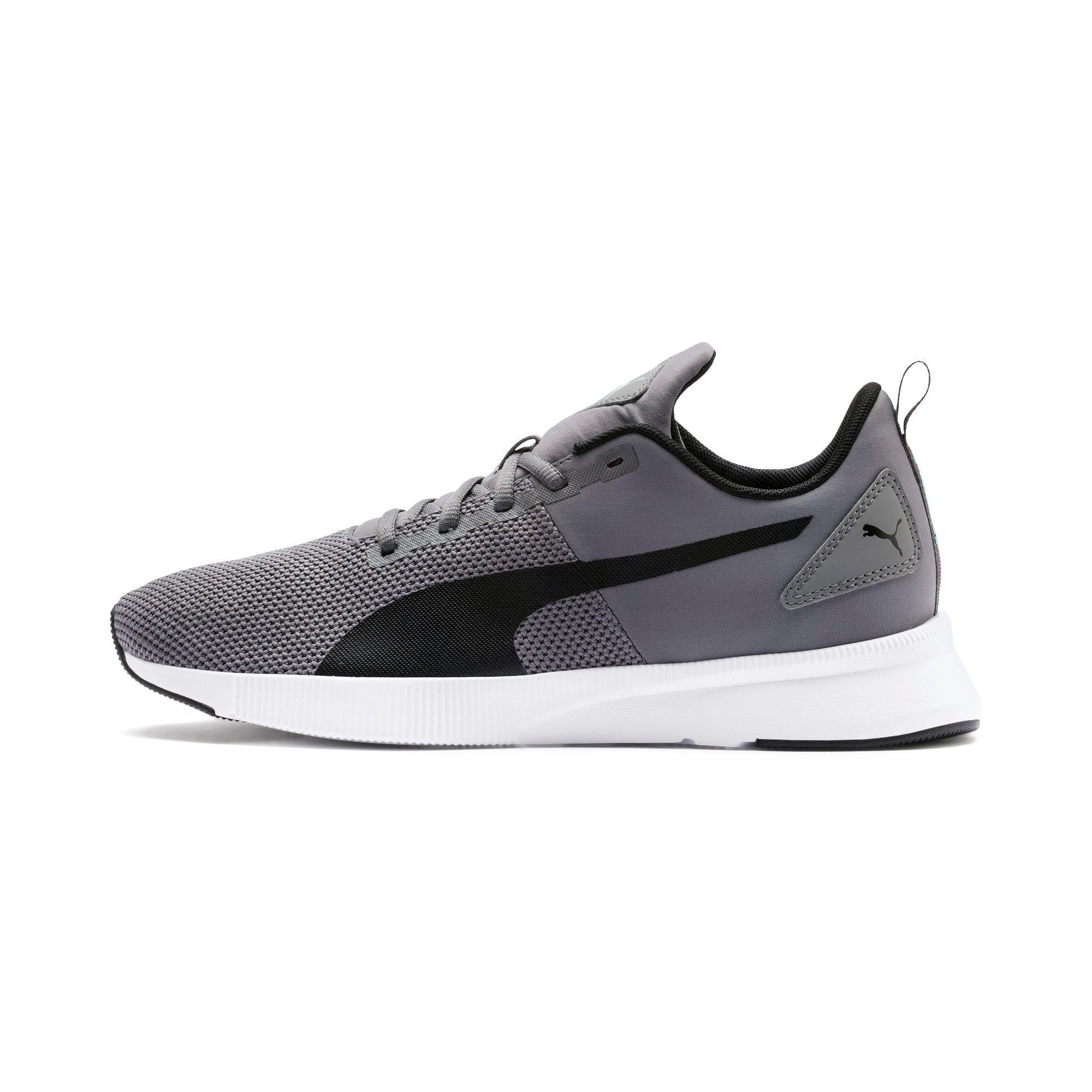 Thumbnail 1 of Flyer Runner Running Shoes, Charcoal-Black-Turquoise, medium