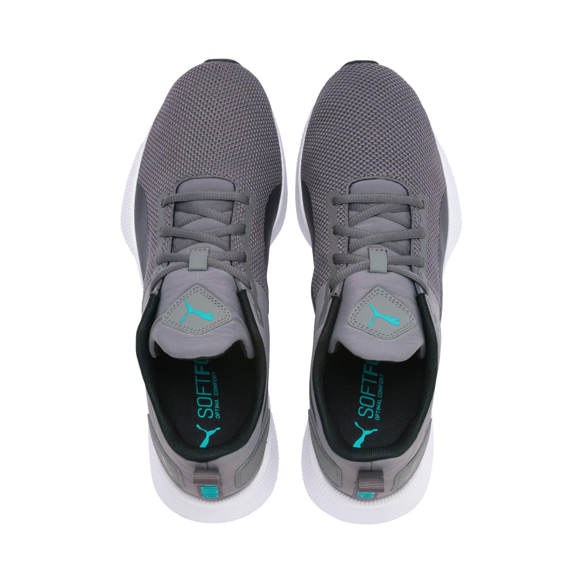 Thumbnail 7 of Flyer Runner Running Shoes, Charcoal-Black-Turquoise, medium