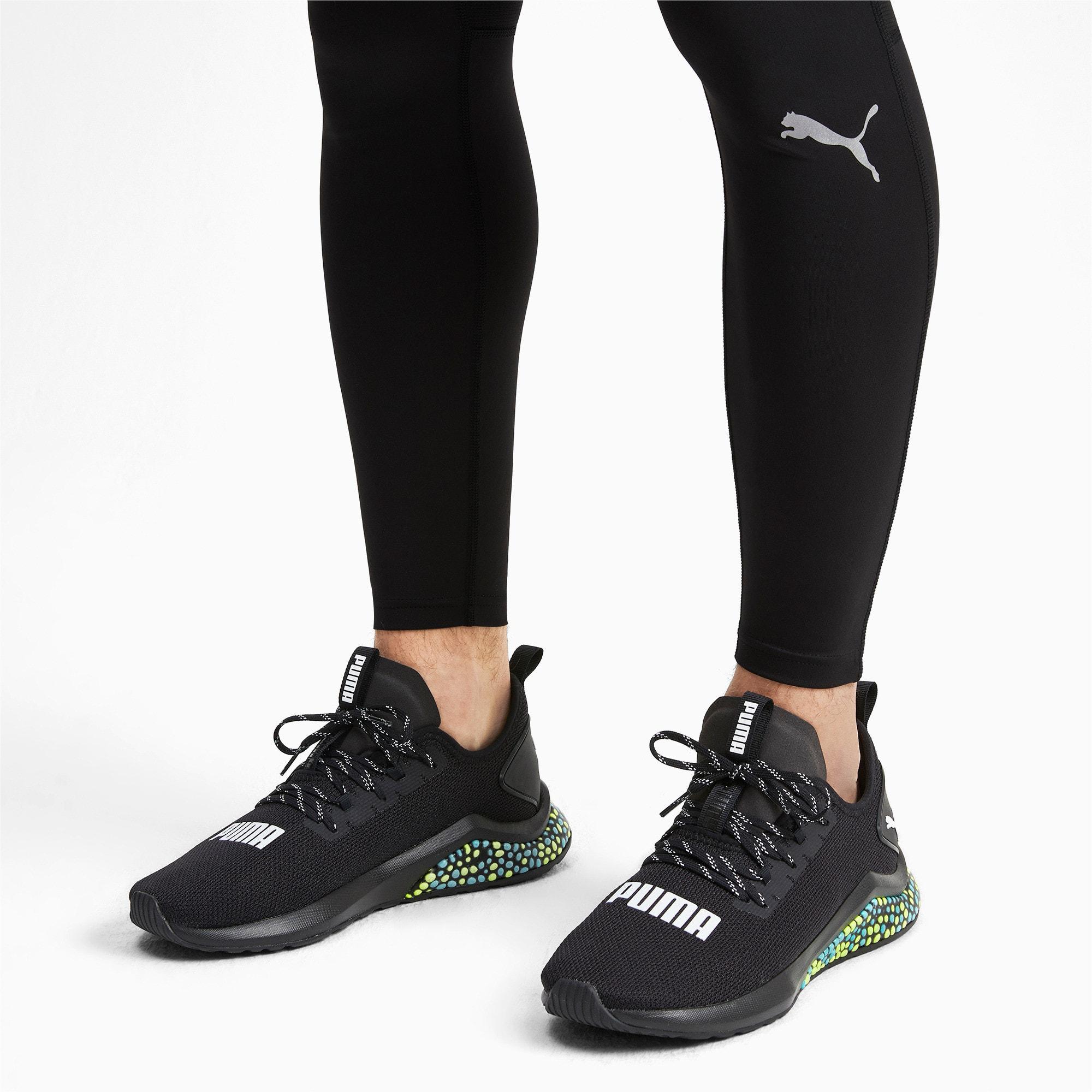 Thumbnail 2 of HYBRID NX Men's Running Shoes, Puma Black-Yellow Alert-Blue, medium