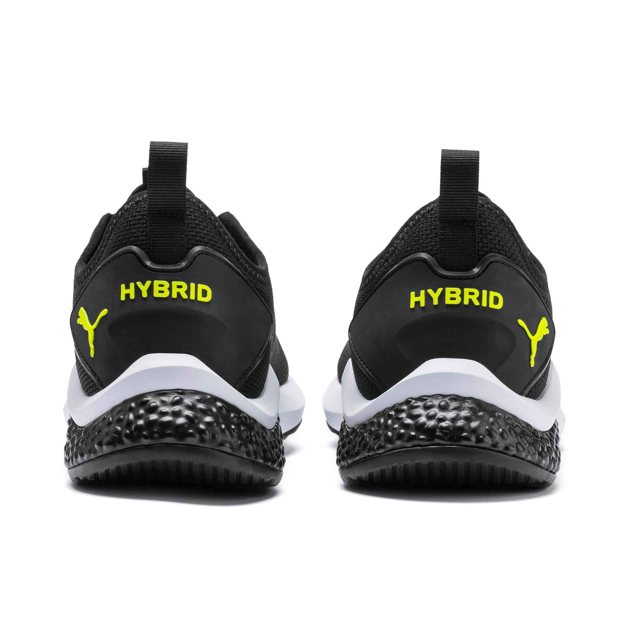 Thumbnail 4 of HYBRID NX Men's Running Shoes, Black-Nrgy Red-Yellow Alert, medium