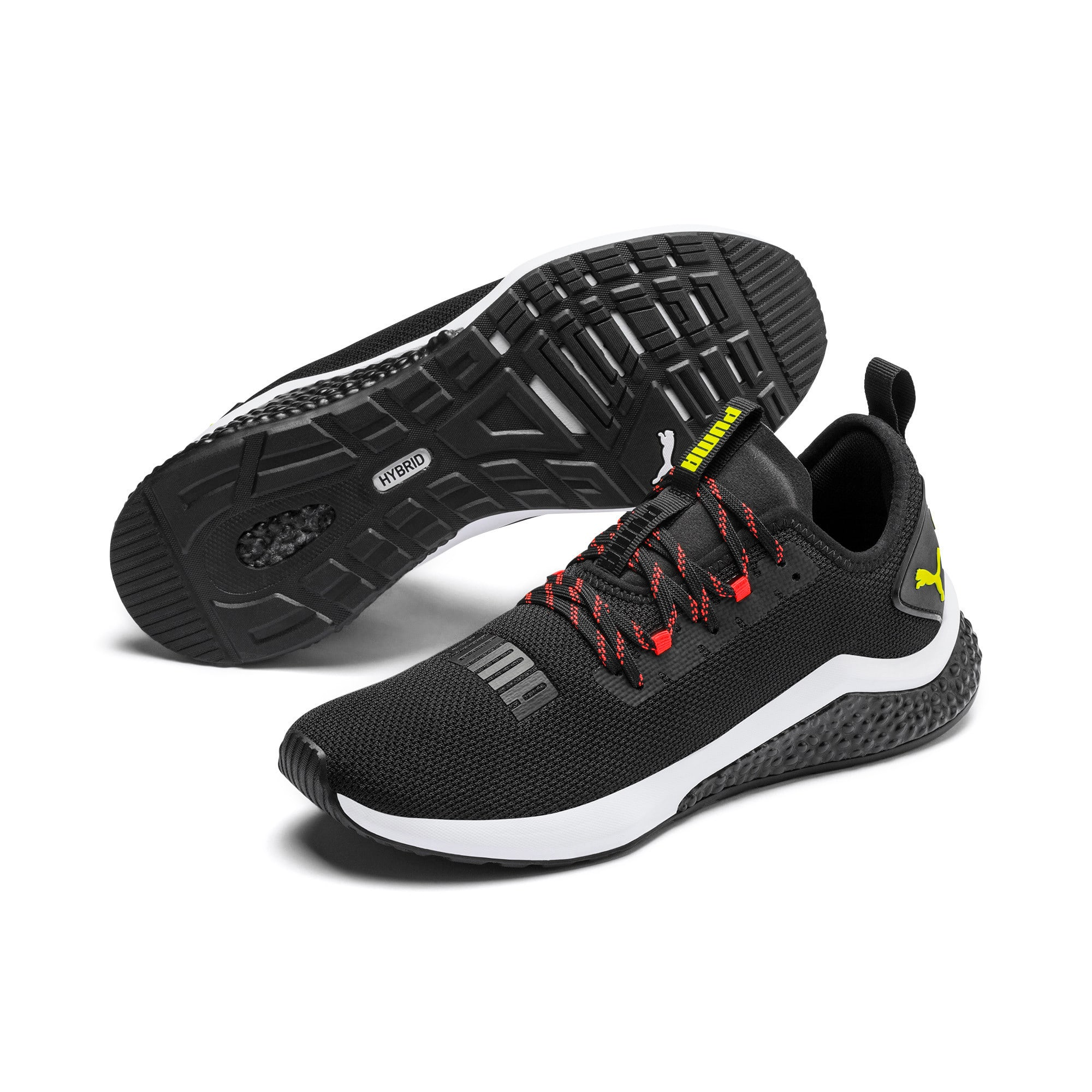 Thumbnail 3 of HYBRID NX Men's Running Shoes, Black-Nrgy Red-Yellow Alert, medium