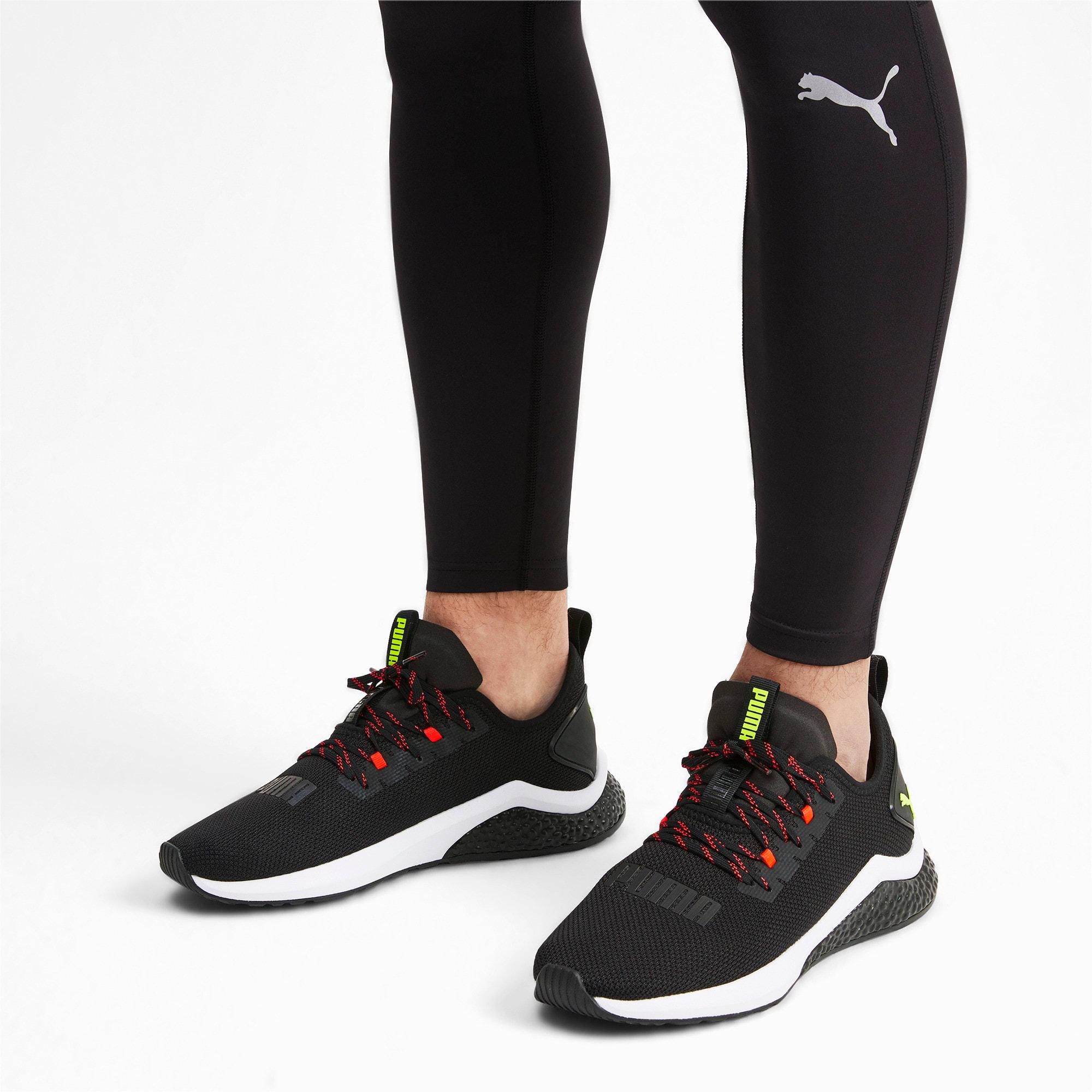 Thumbnail 2 of HYBRID NX Men's Running Shoes, Black-Nrgy Red-Yellow Alert, medium