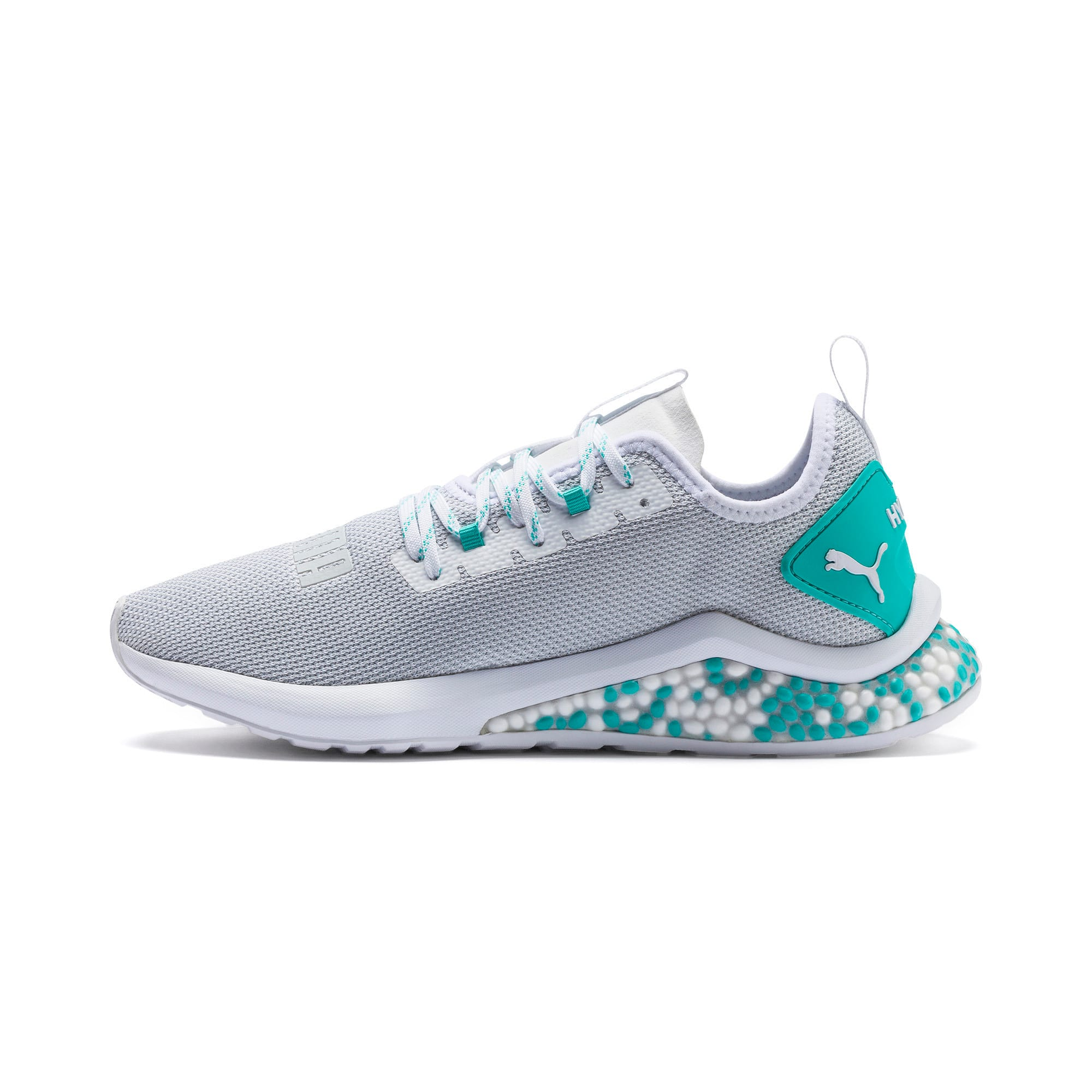 HYBRID NX hardloopschoenen voor heren, Puma White-Blue Turquoise, large