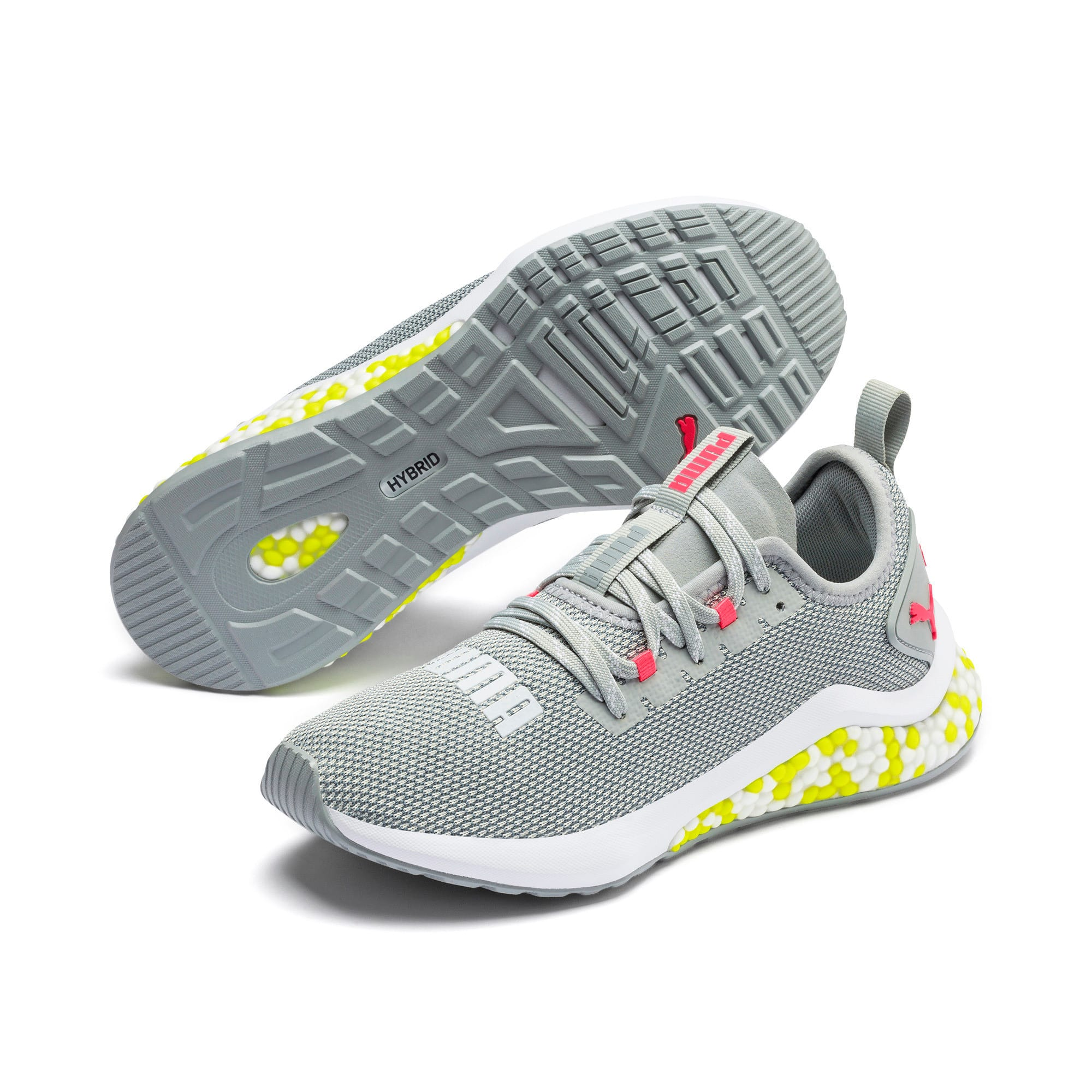 Thumbnail 3 of HYBRID NX Women's Running Shoes, Quarry-PinkAlert-YellowAlert, medium