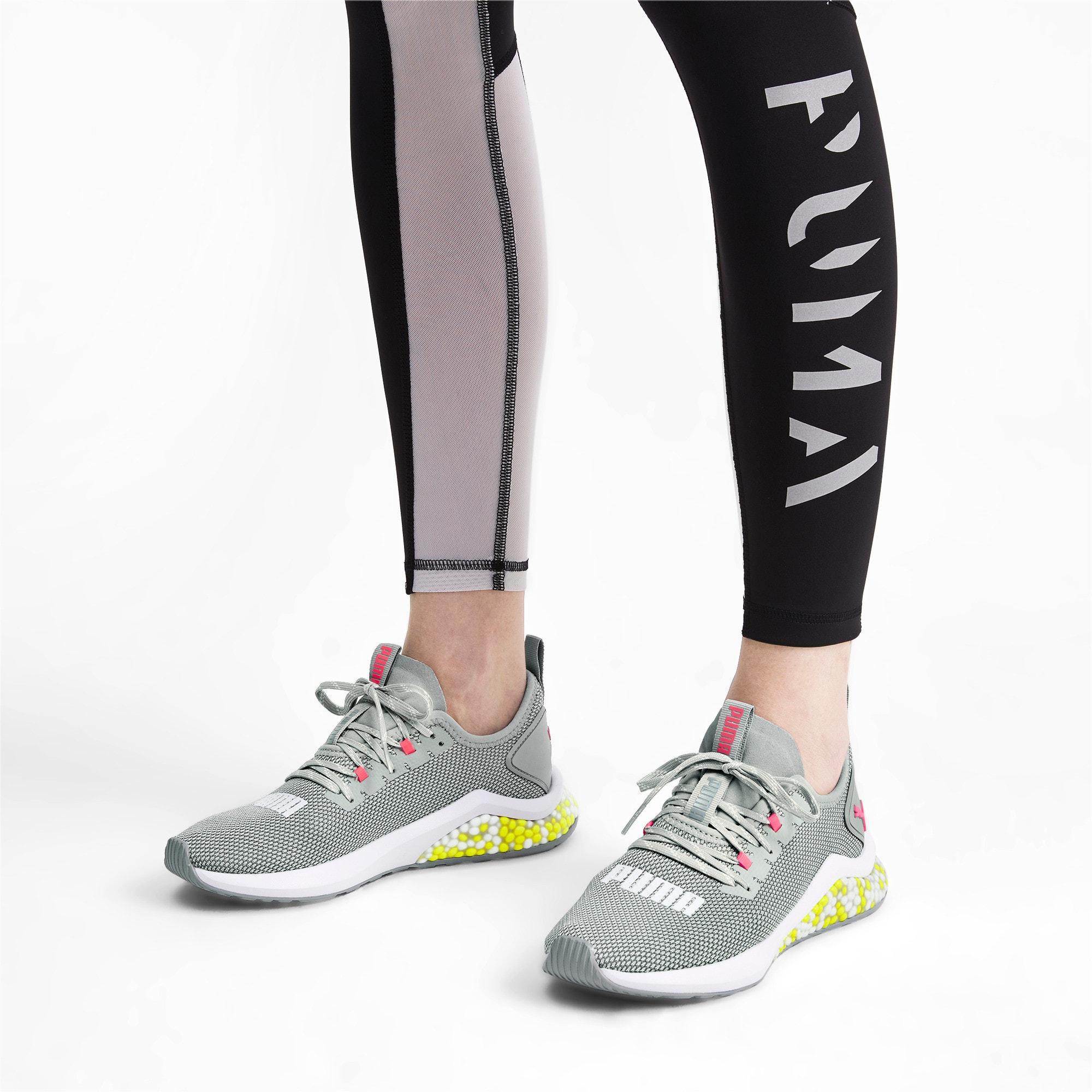 Thumbnail 2 of HYBRID NX Women's Running Shoes, Quarry-PinkAlert-YellowAlert, medium