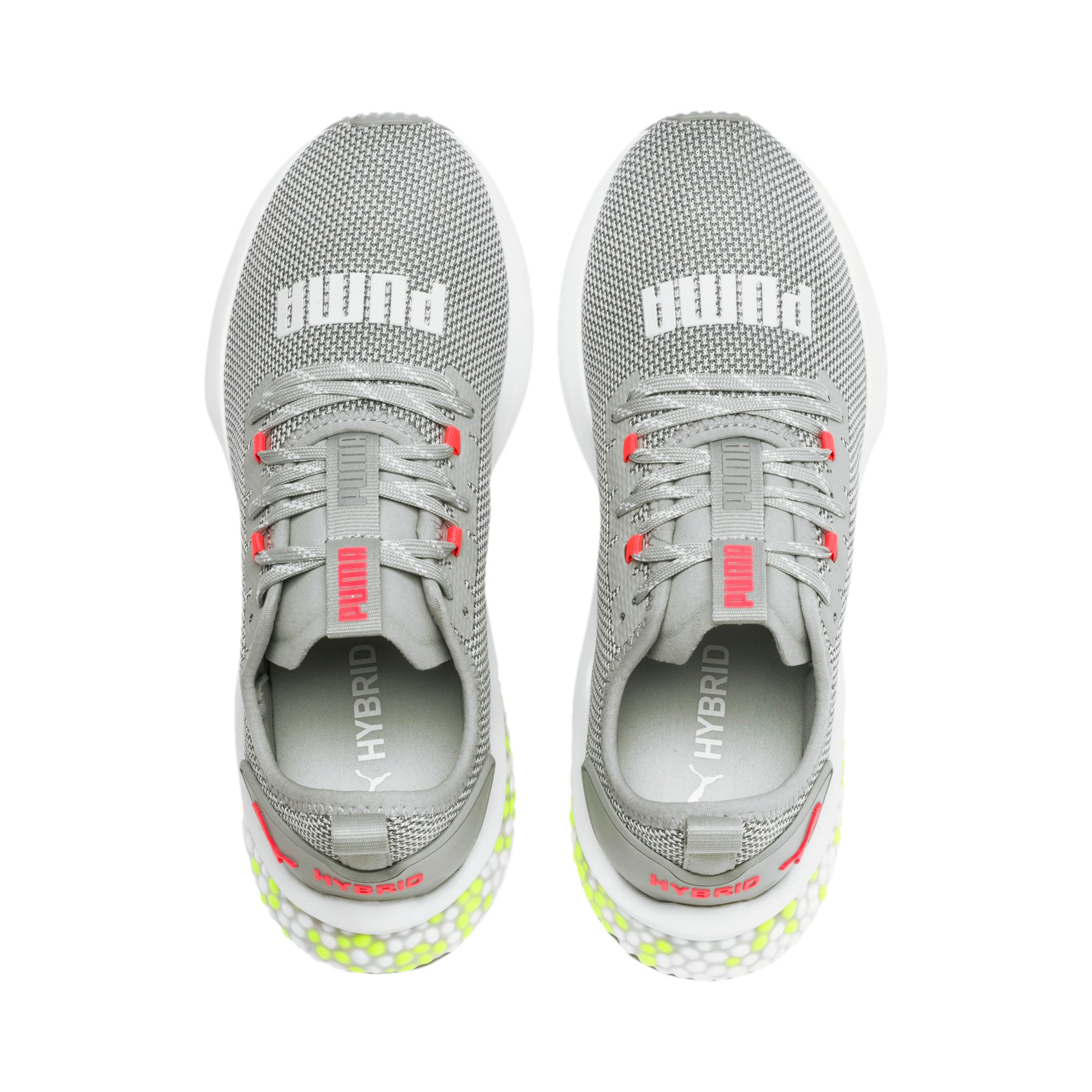 Thumbnail 7 of HYBRID NX Women's Running Shoes, Quarry-PinkAlert-YellowAlert, medium