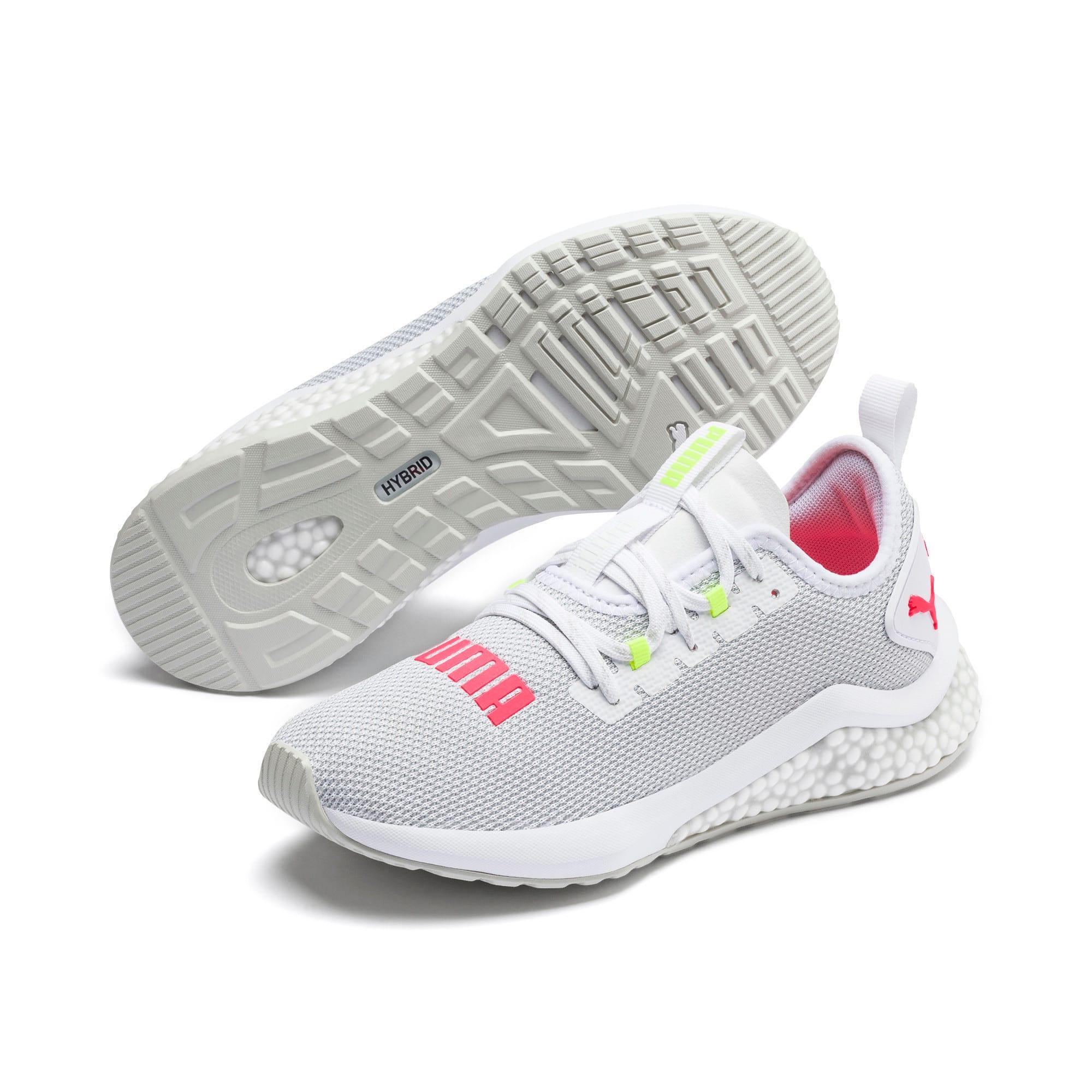 Thumbnail 3 of HYBRID NX Women's Running Shoes, Puma White-Pink Alert, medium