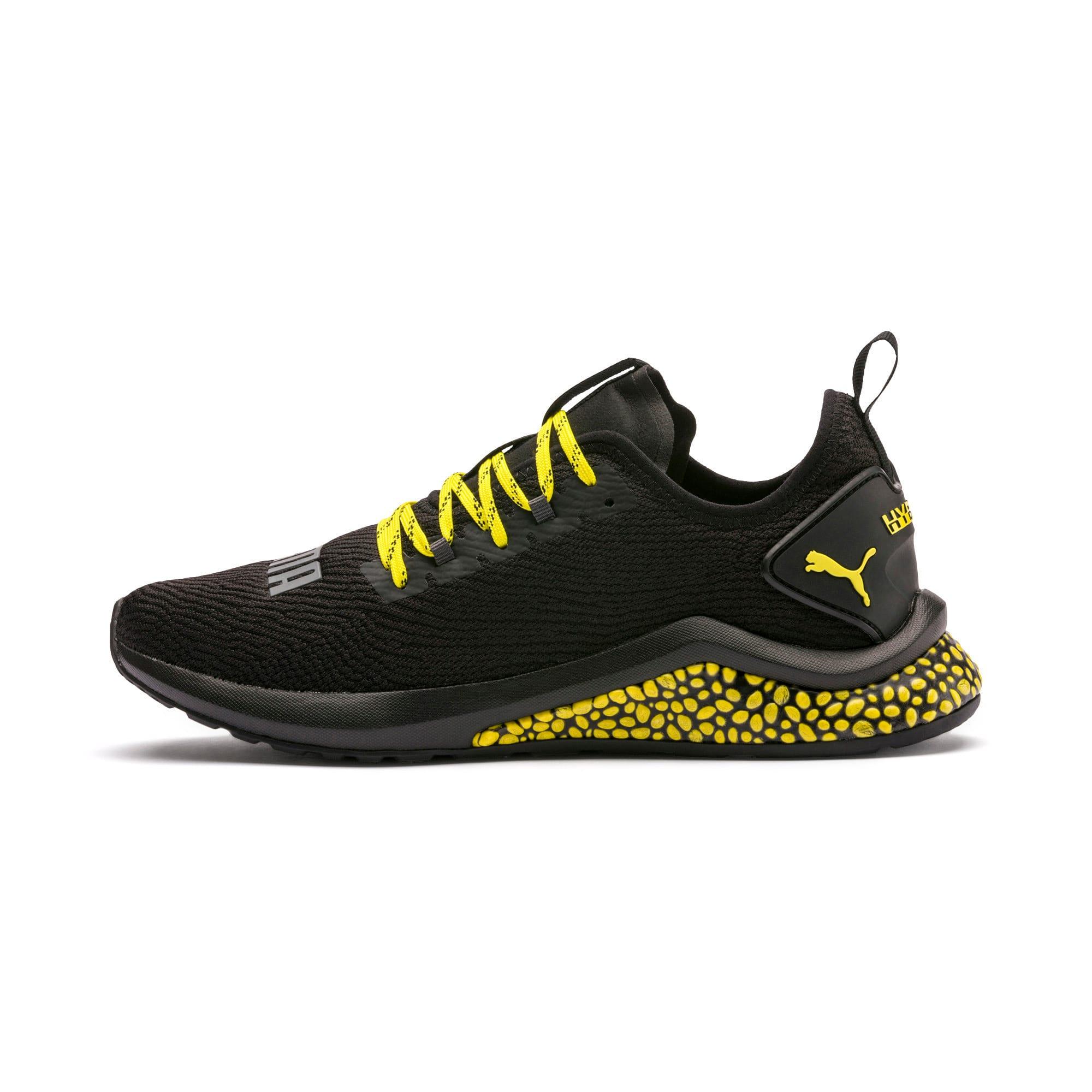 Thumbnail 1 of HYBRID NX Caution hardloopschoenen voor heren, Puma Black-Blazing Yellow, medium