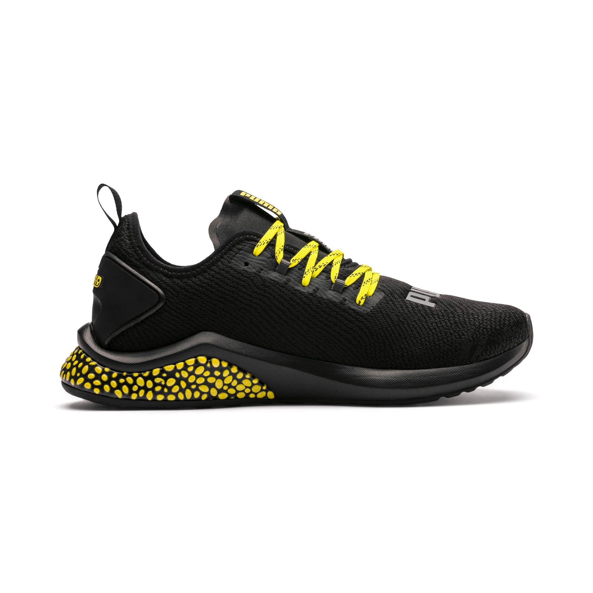 Thumbnail 5 of HYBRID NX Caution hardloopschoenen voor heren, Puma Black-Blazing Yellow, medium