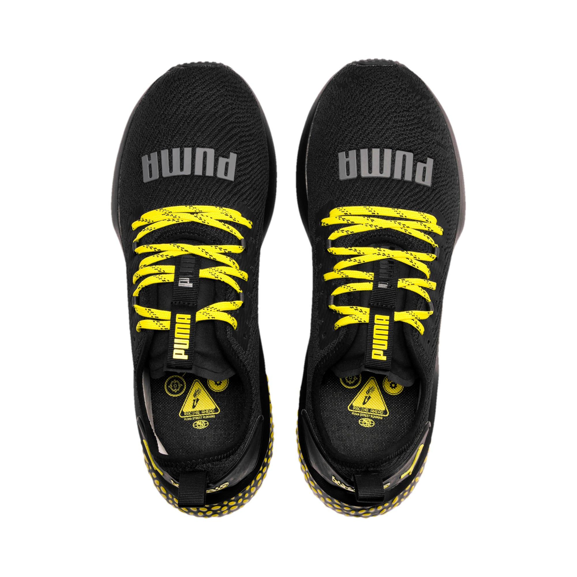 Thumbnail 6 of HYBRID NX Caution hardloopschoenen voor heren, Puma Black-Blazing Yellow, medium