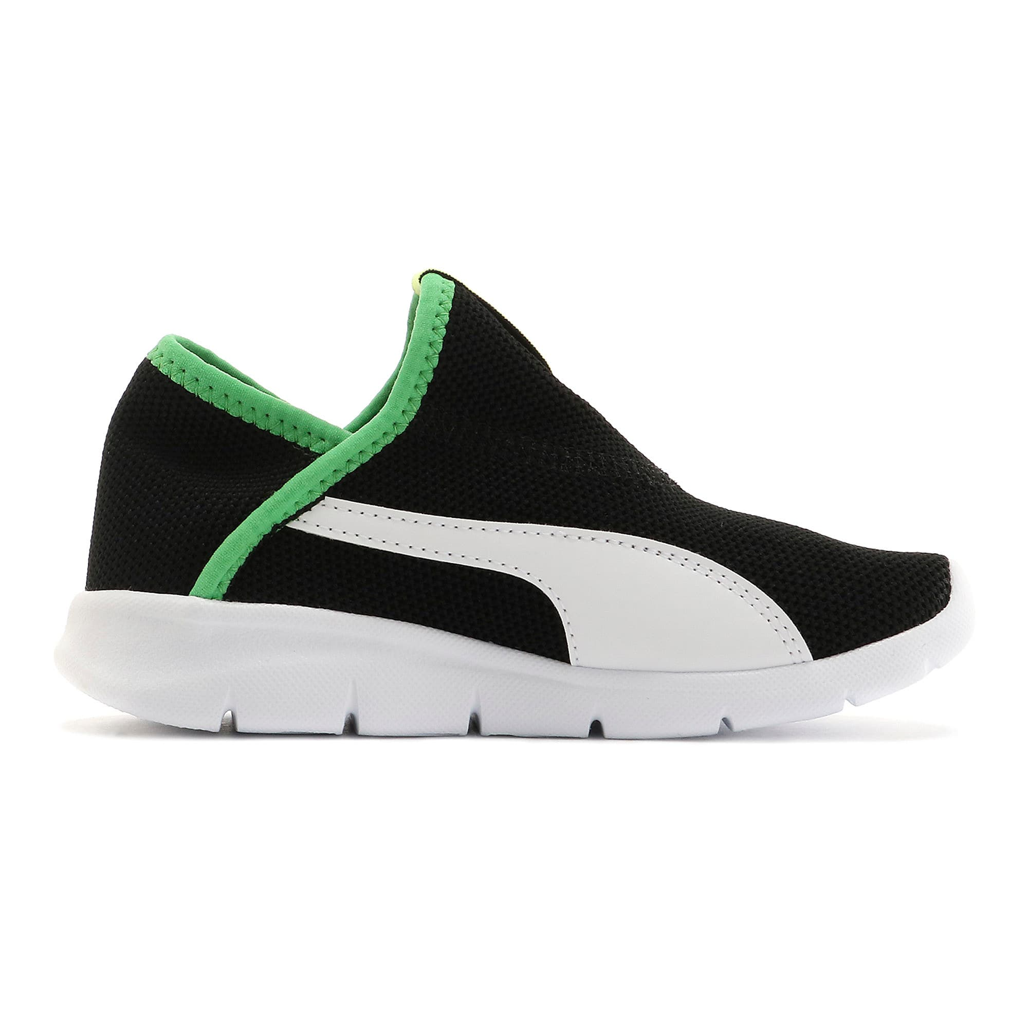 Thumbnail 5 of キッズ プーマ バオ 3 ソック PS 17-21cm, Puma Black-White-Irish Green, medium-JPN