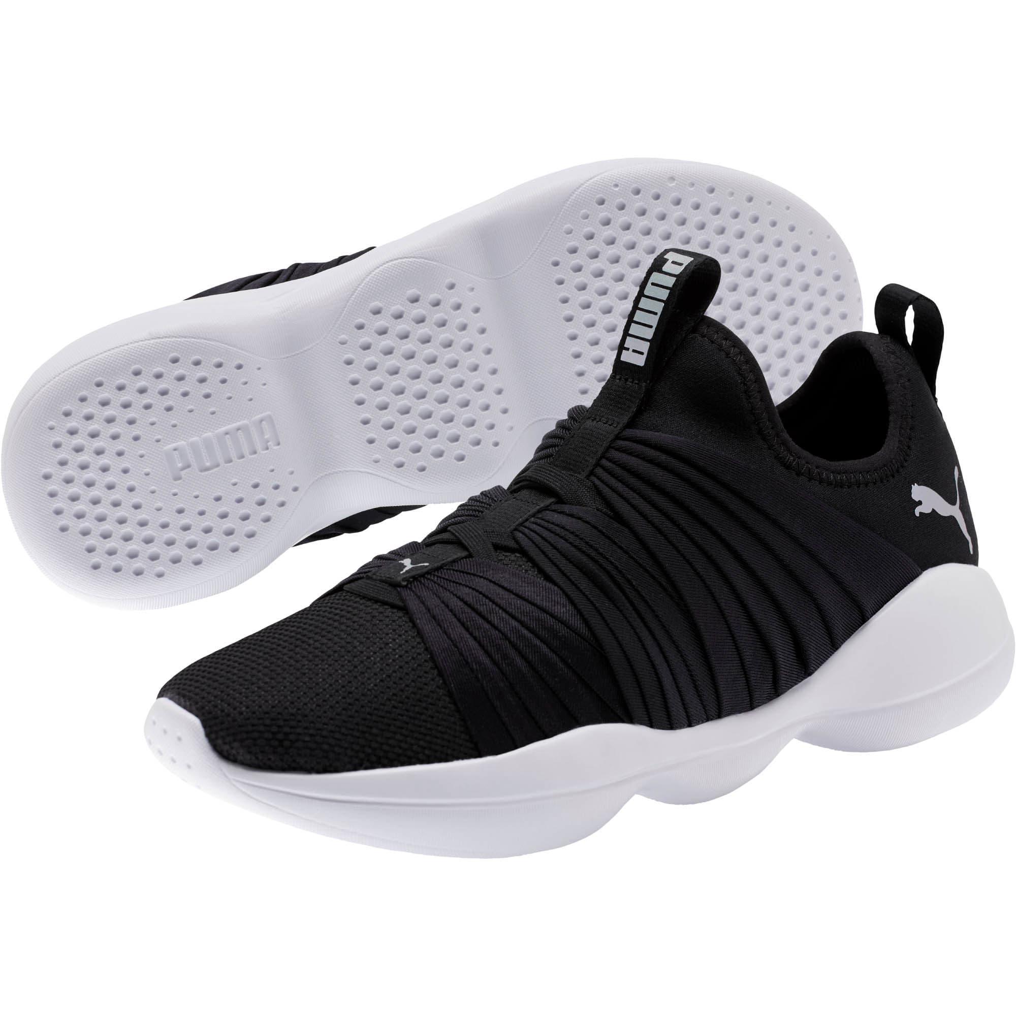 Thumbnail 2 of Flourish Stellar Women's Training Shoes, Puma Black-Puma White, medium