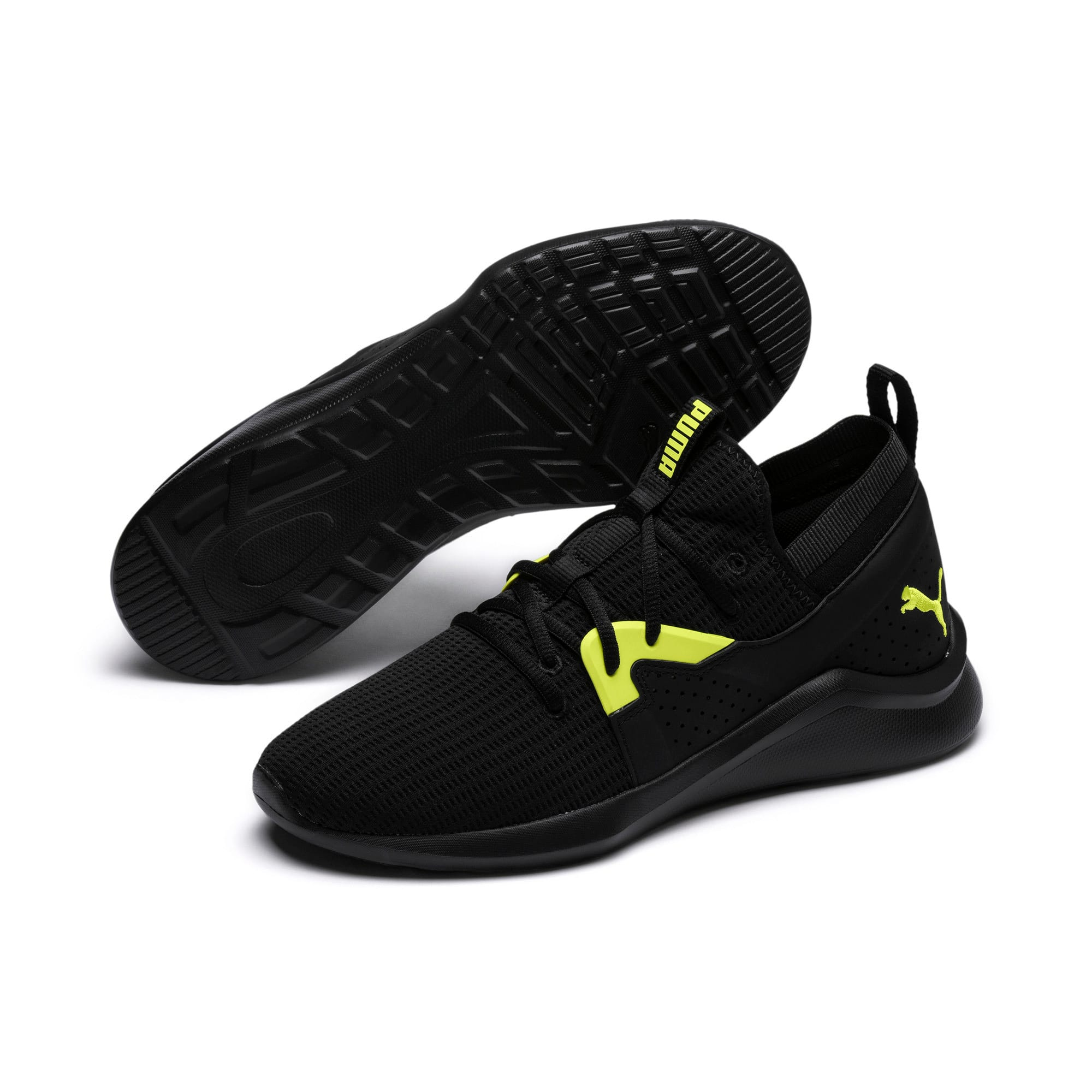 Thumbnail 2 of Emergence Future Men's Training Shoes, Black-Charcoal-Yellow, medium