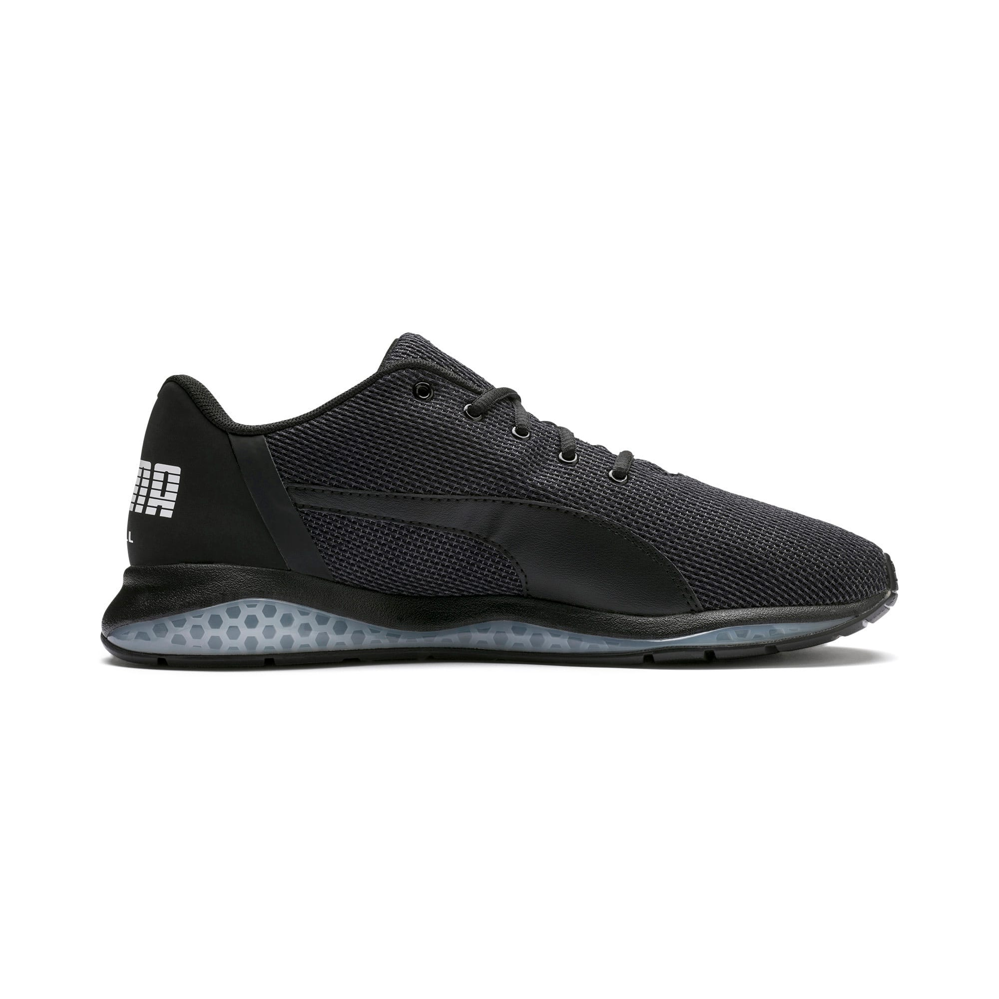 Thumbnail 5 of Cell Ultimate Point Knitted Men's Running Shoes, Puma Black-Puma White, medium-IND