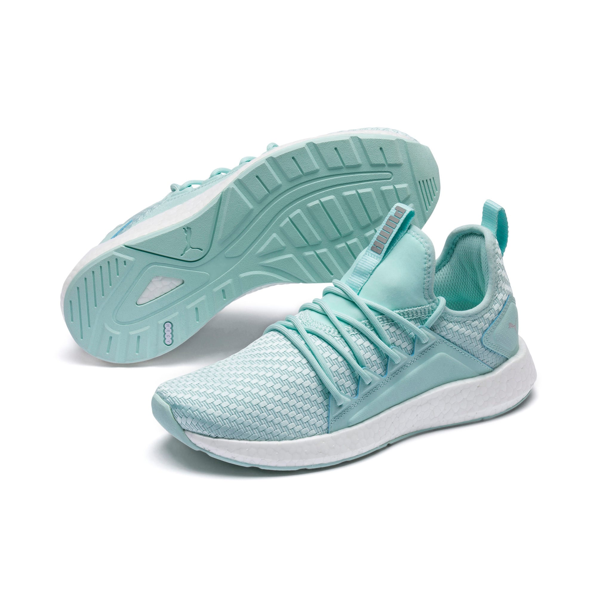 Thumbnail 2 of NRGY Neko Cosmic Women's Running Trainers, Fair Aqua-Puma White, medium