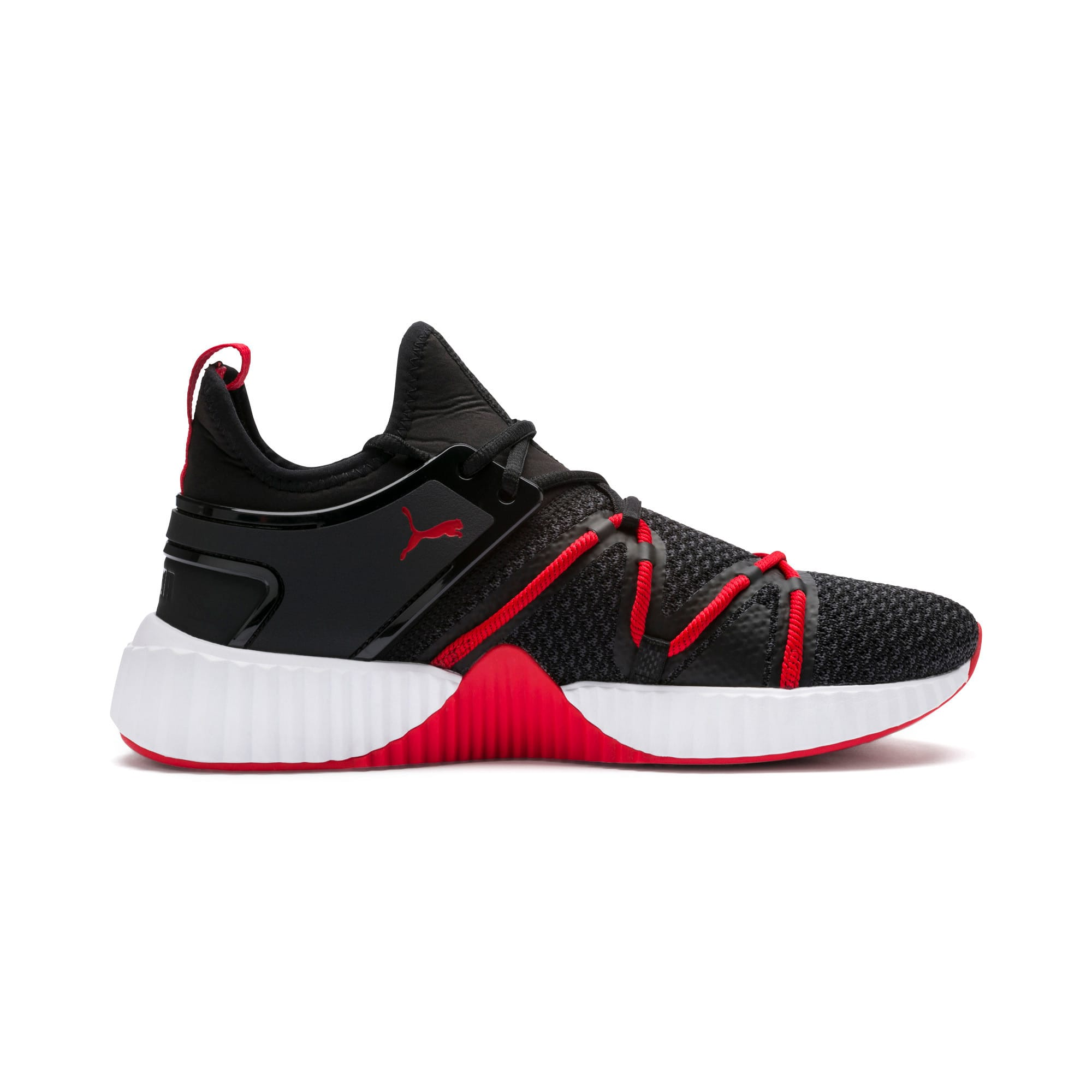 Thumbnail 5 of Defy Deco Men's Training Shoes, Puma Black-High Risk Red, medium