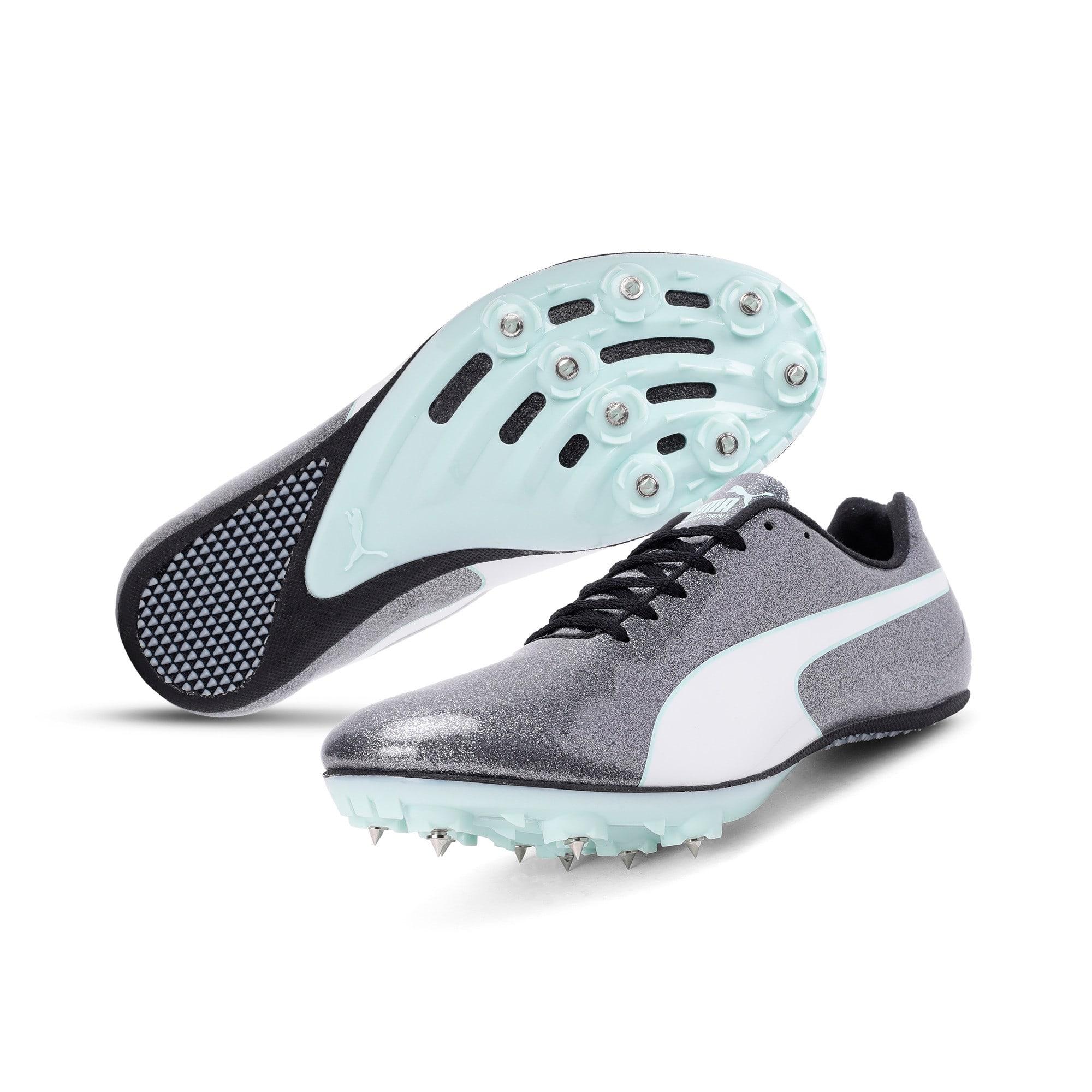 Thumbnail 2 of evoSPEED Sprint 9 Women's Running Shoes, Steel Gray-Fair Aqua-White, medium-IND