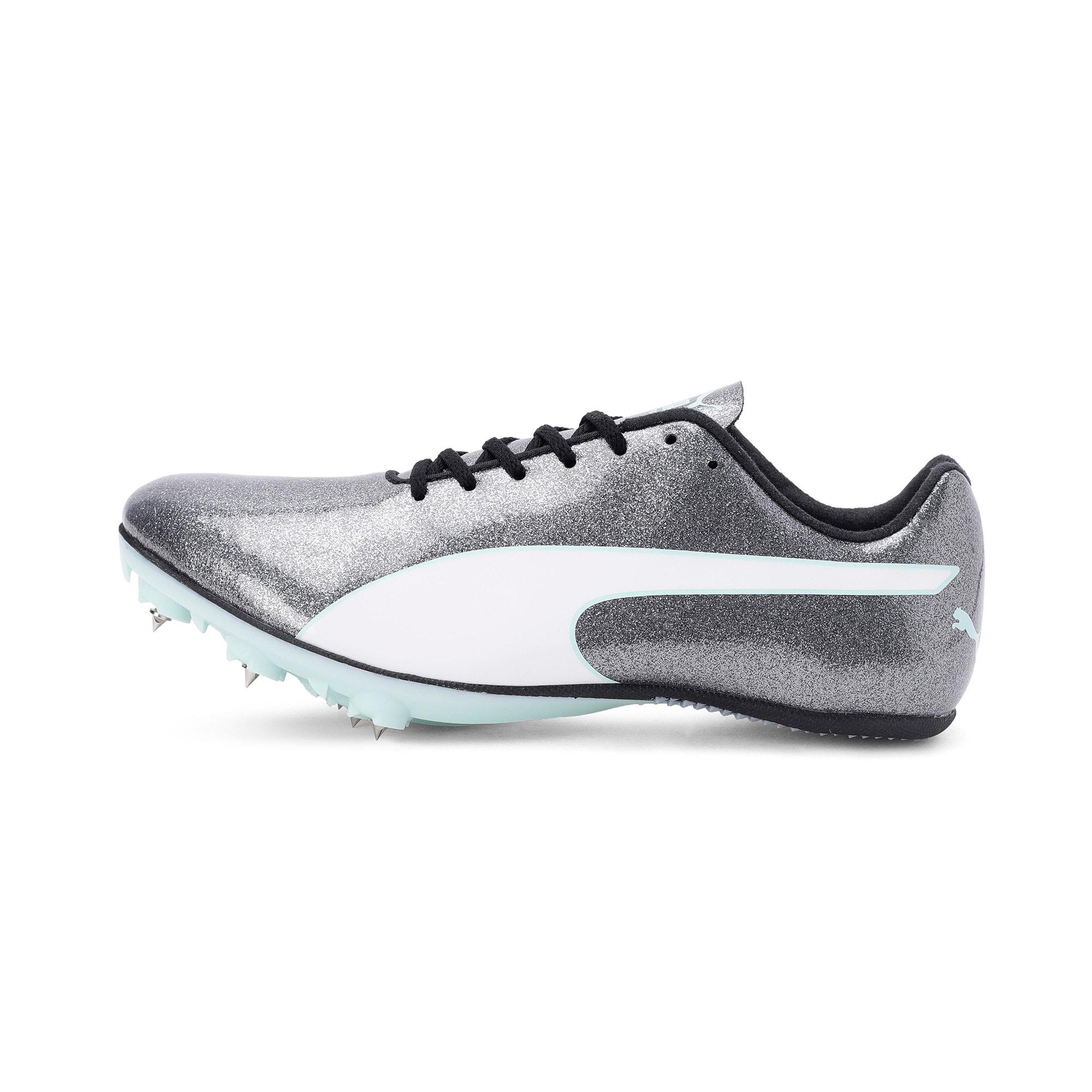 Thumbnail 1 of evoSPEED Sprint 9 Women's Running Shoes, Steel Gray-Fair Aqua-White, medium-IND