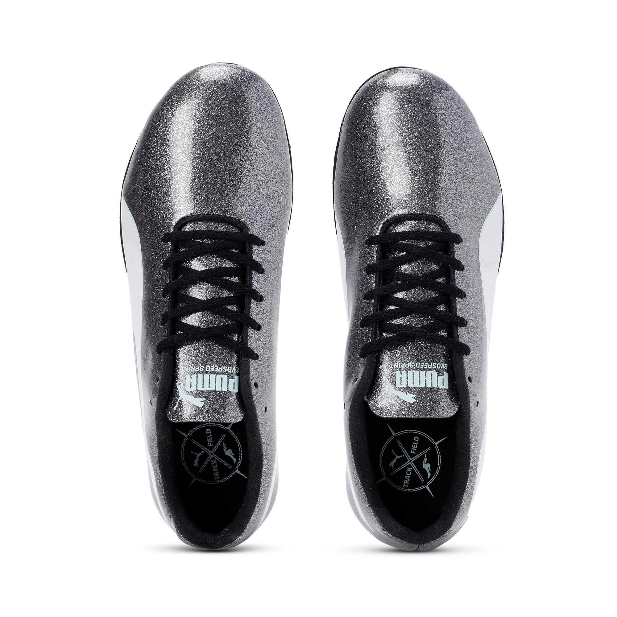 Thumbnail 6 of evoSPEED Sprint 9 Women's Running Shoes, Steel Gray-Fair Aqua-White, medium-IND