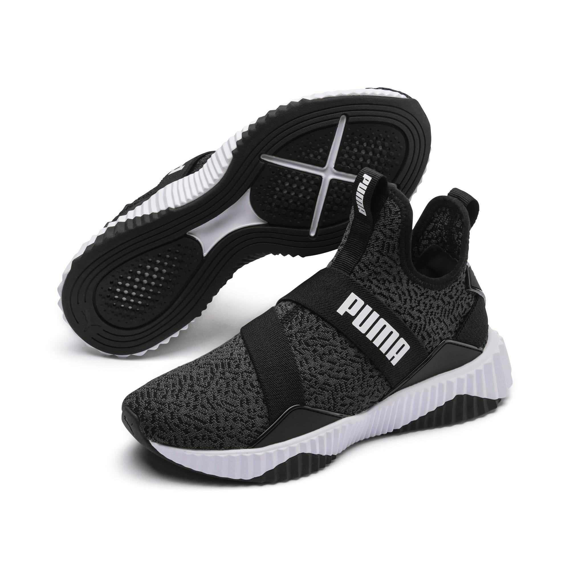 Thumbnail 2 of Defy Mid Animal Women's Training Shoes, Puma Black-Puma White, medium-IND