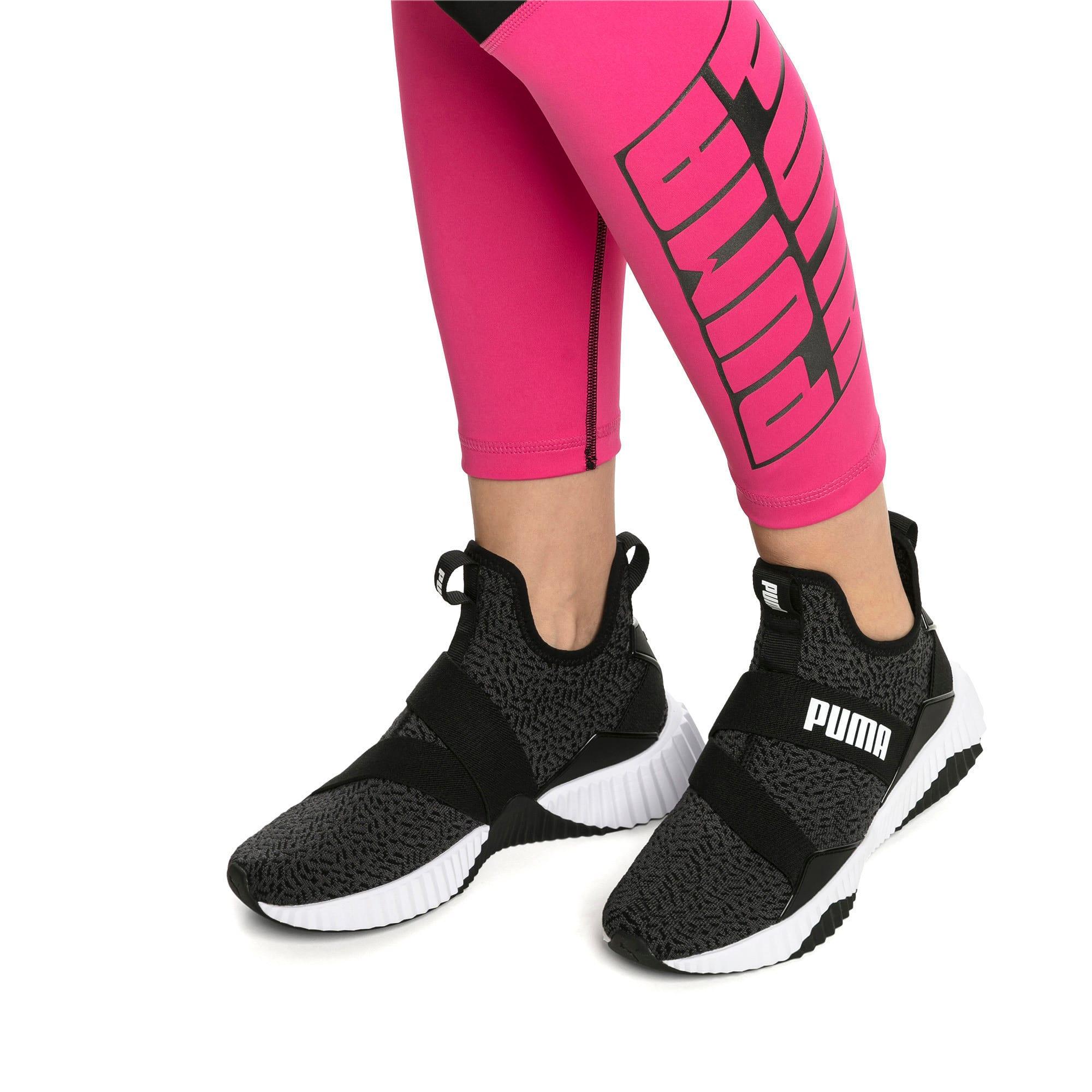 Thumbnail 8 of Defy Mid Animal Women's Training Shoes, Puma Black-Puma White, medium-IND