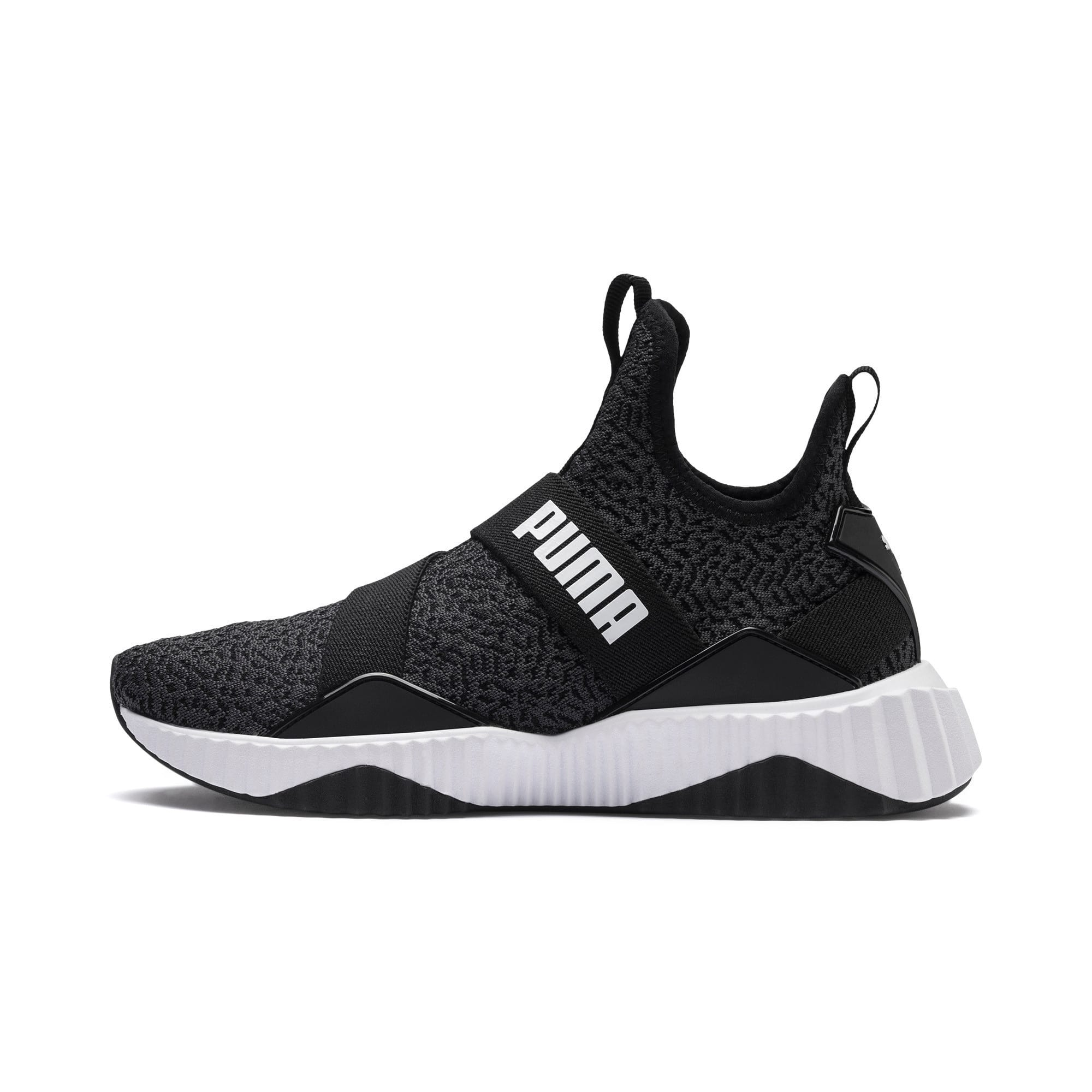 Thumbnail 1 of Defy Mid Animal Women's Training Shoes, Puma Black-Puma White, medium-IND