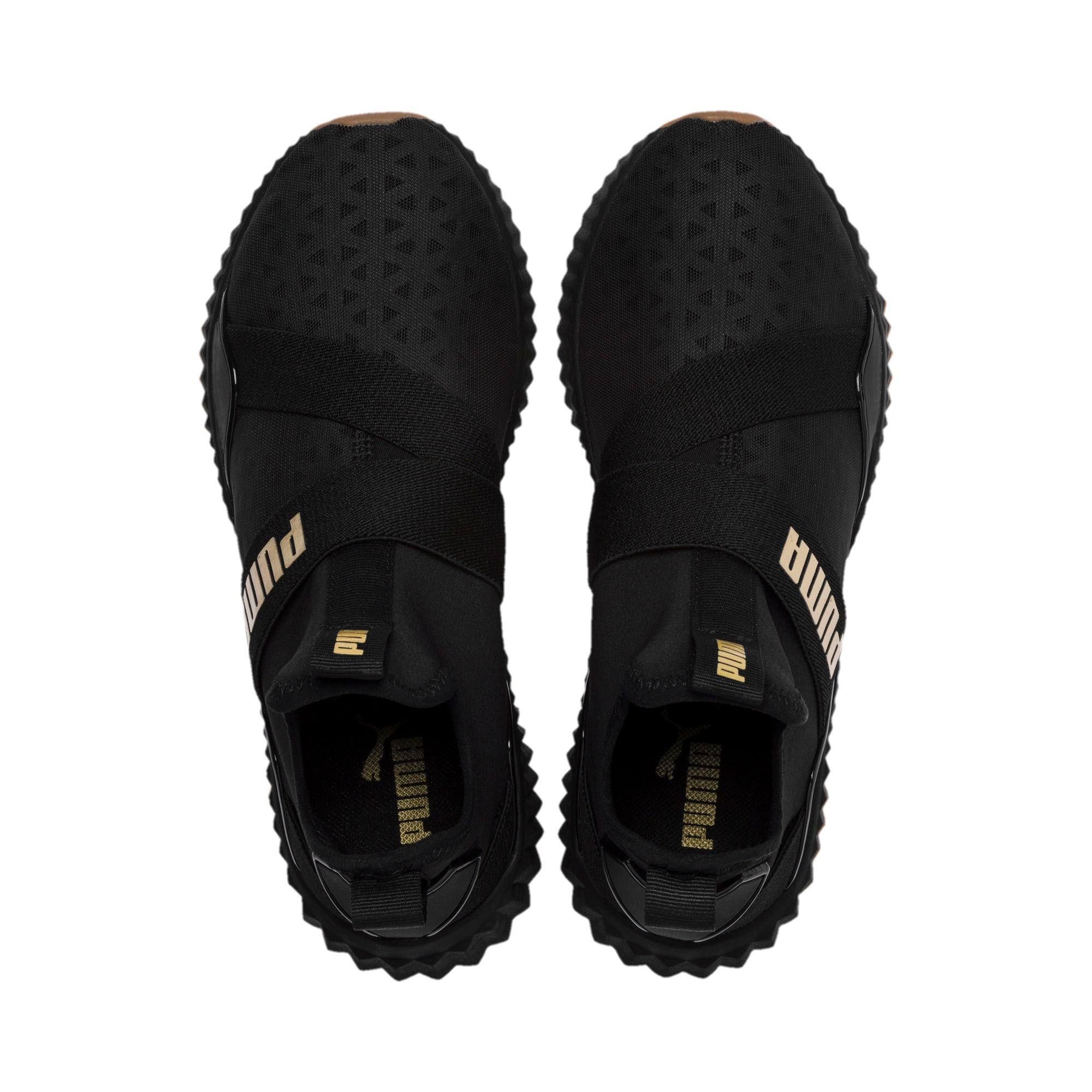 Thumbnail 7 of Defy Mid Sparkle Women's Training Shoes, Puma Black-Metallic Gold, medium