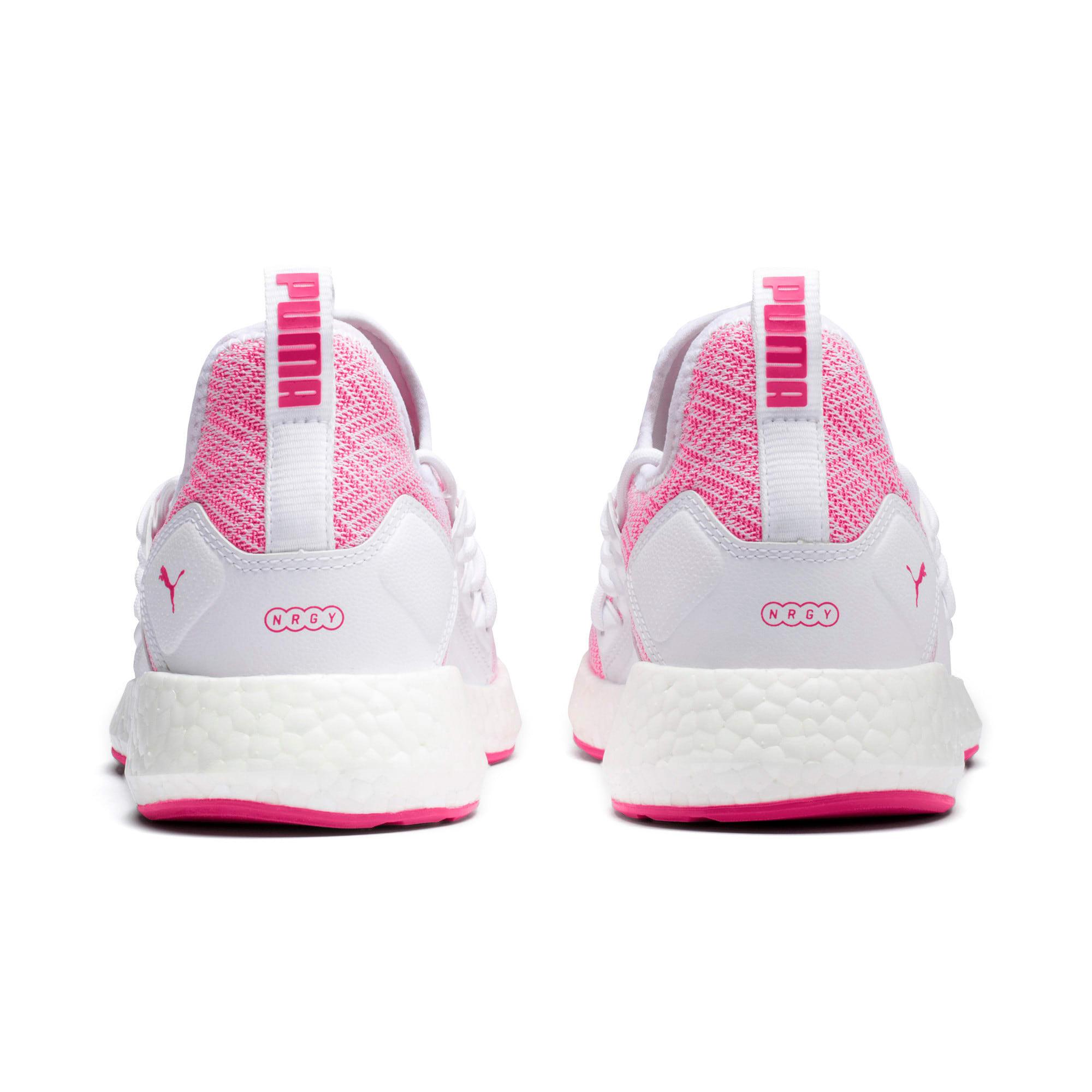 Thumbnail 4 of NRGY Neko Stellar Women's Running Shoes, Puma White-Fuchsia Purple, medium