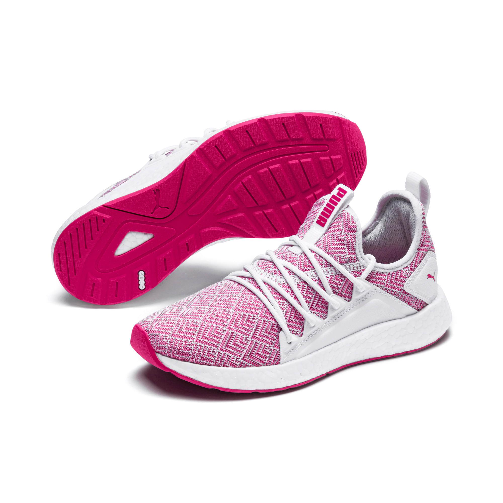 Thumbnail 2 of NRGY Neko Stellar Women's Running Shoes, Puma White-Fuchsia Purple, medium