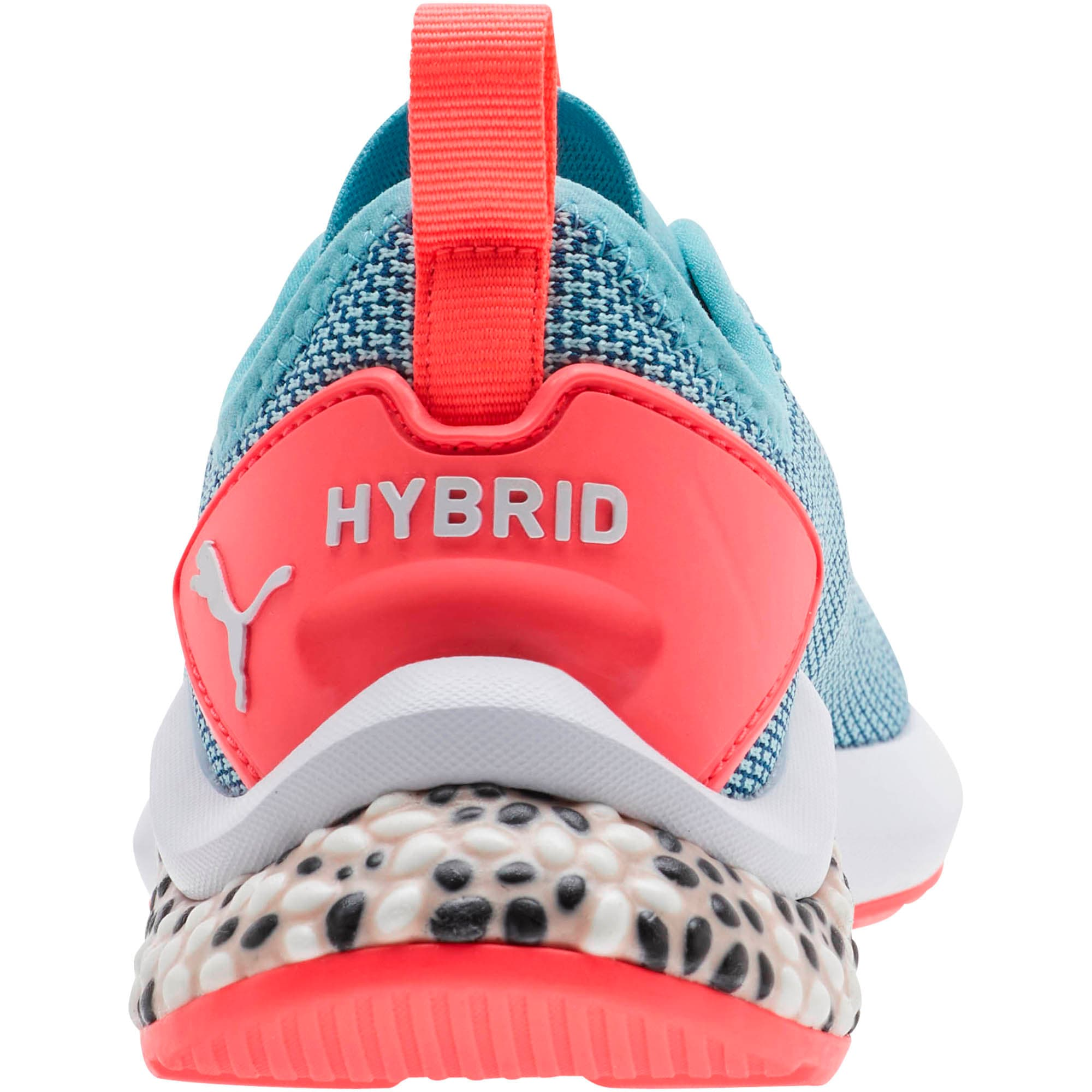 Thumbnail 3 of HYBRID NX Running Shoes JR, Milky Blue-Calypso Coral-Wht, medium