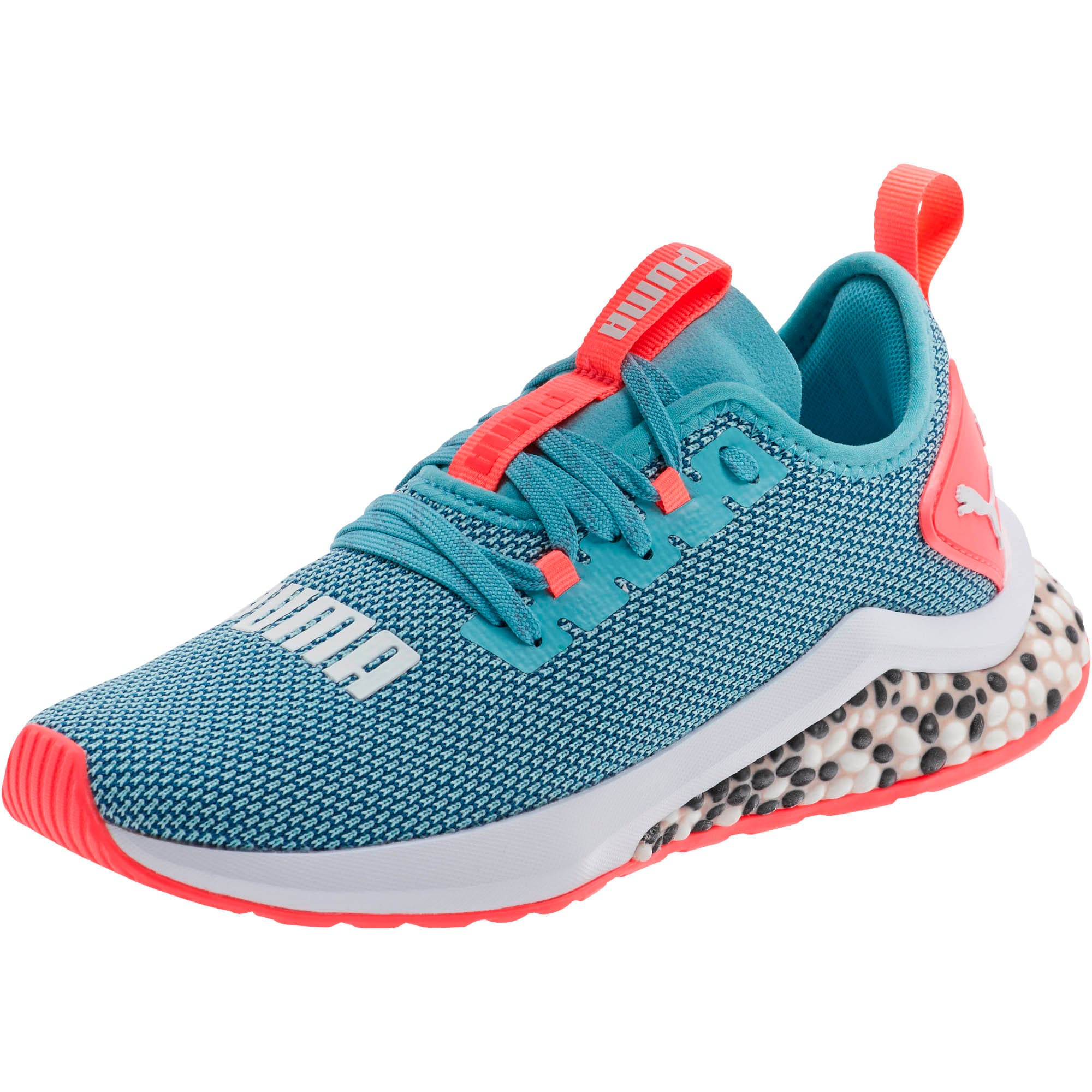 Thumbnail 1 of HYBRID NX Running Shoes JR, Milky Blue-Calypso Coral-Wht, medium