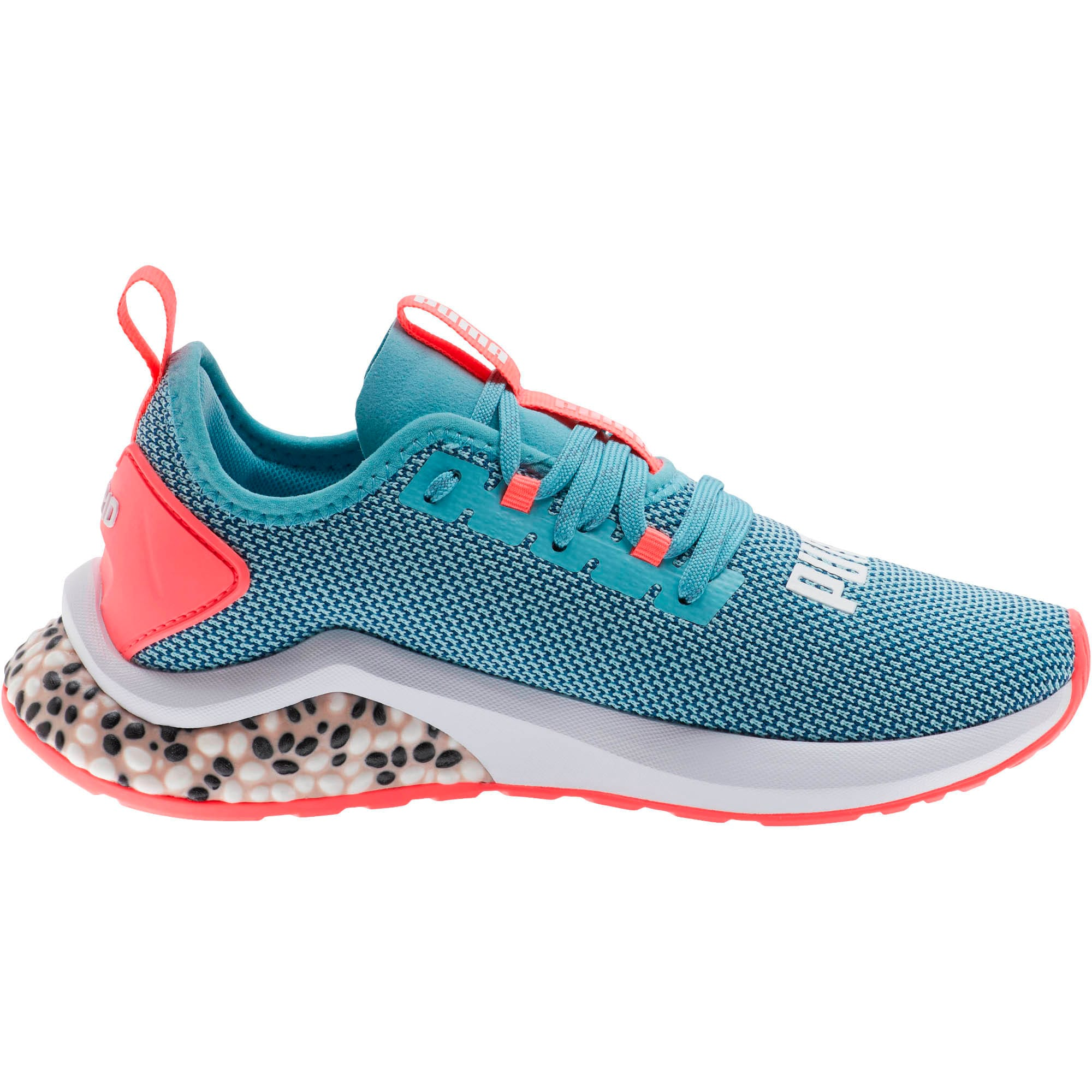 Thumbnail 4 of HYBRID NX Running Shoes JR, Milky Blue-Calypso Coral-Wht, medium