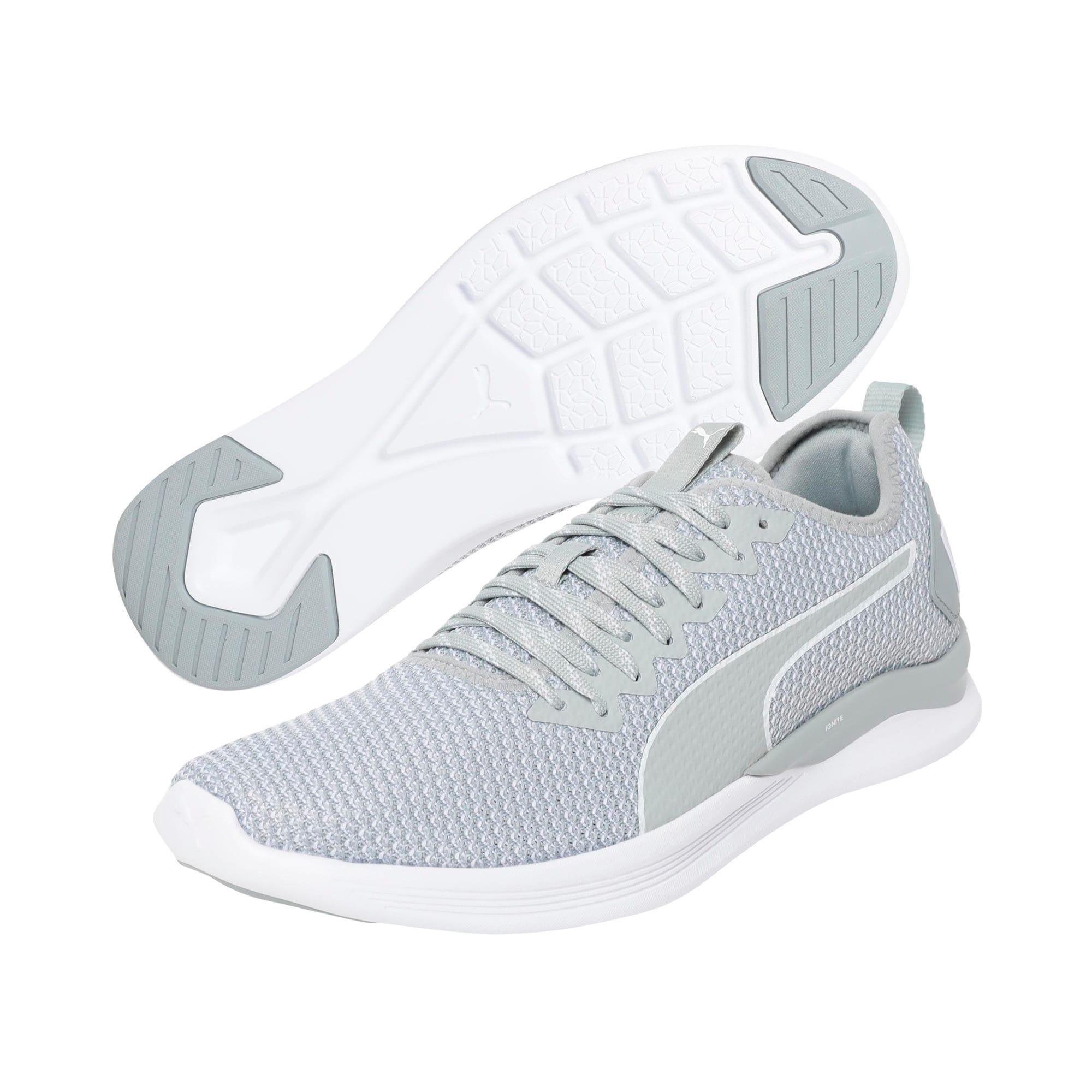 Thumbnail 2 of IGNITE Flash FS Men's Running Shoes, Quarry-Puma White, medium-IND
