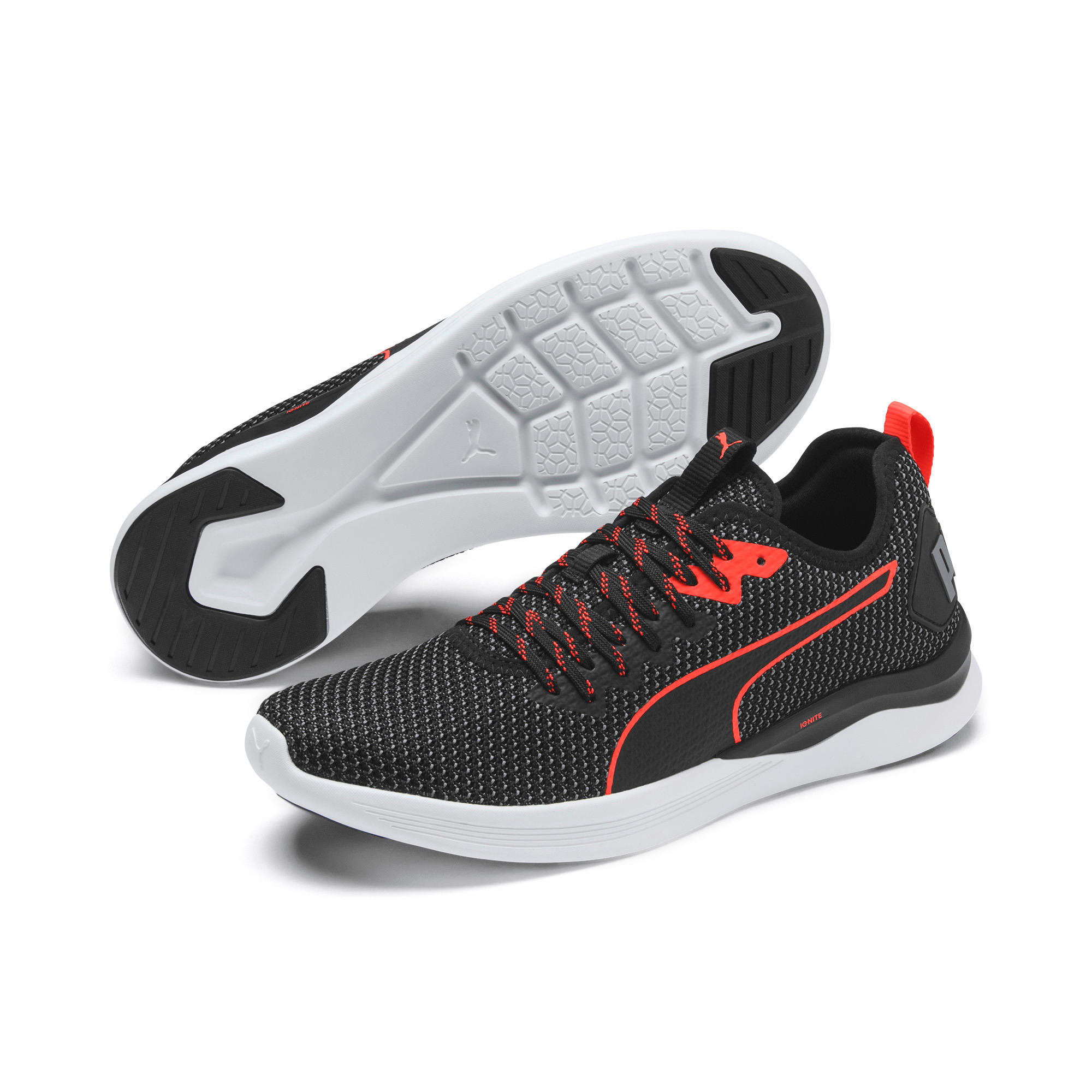 Thumbnail 3 of Scarpe Running IGNITE Flash FS uomo, Puma Black-Nrgy Red, medium