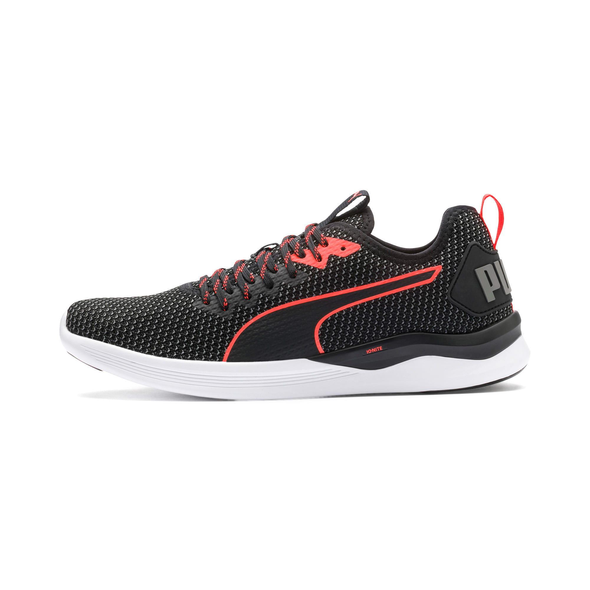 Thumbnail 1 of IGNITE Flash FS Men's Running Shoes, Puma Black-Nrgy Red, medium-IND